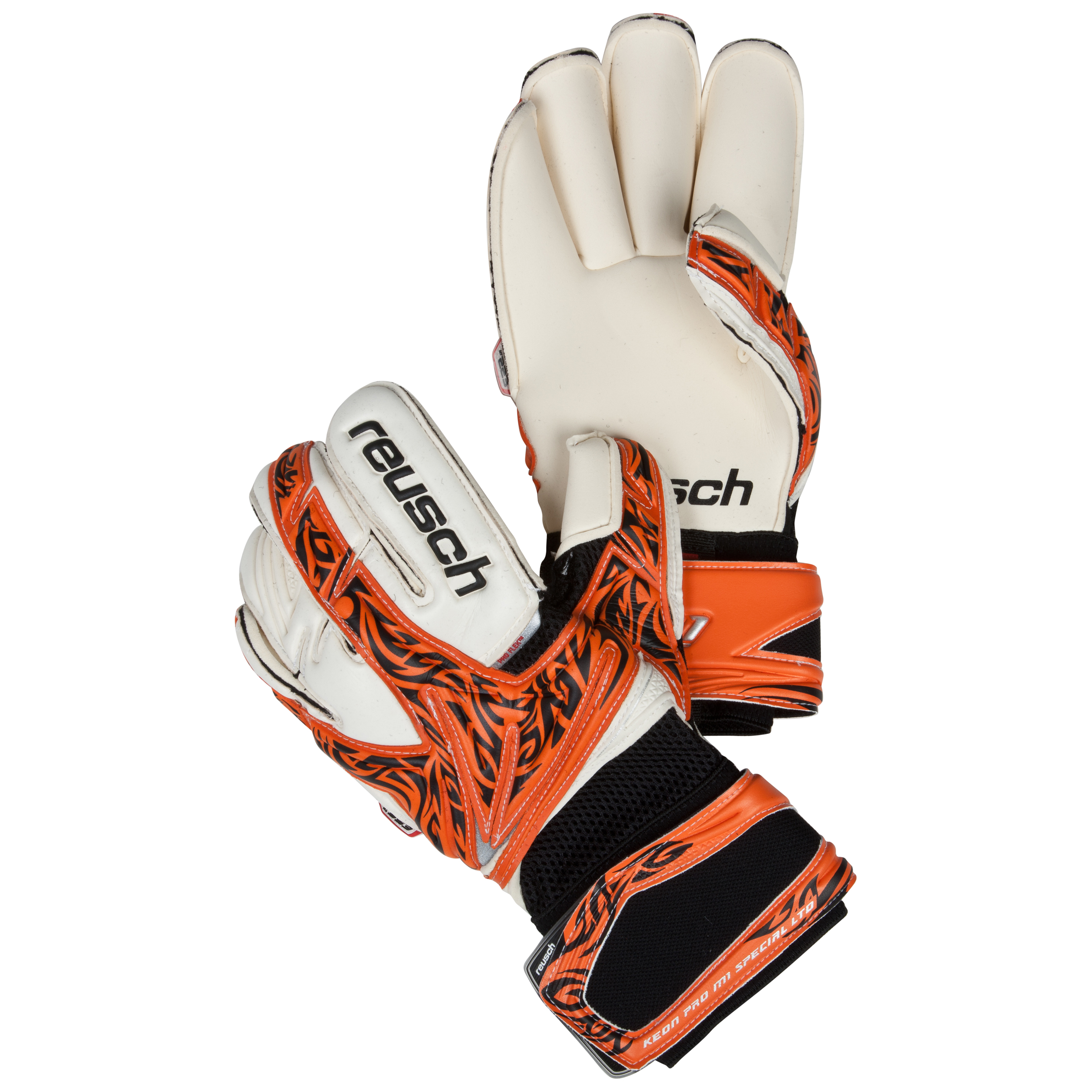 Reusch Keon Pro M1 Special LTD Goalkeeper Gloves-Orange/Black/Ltd