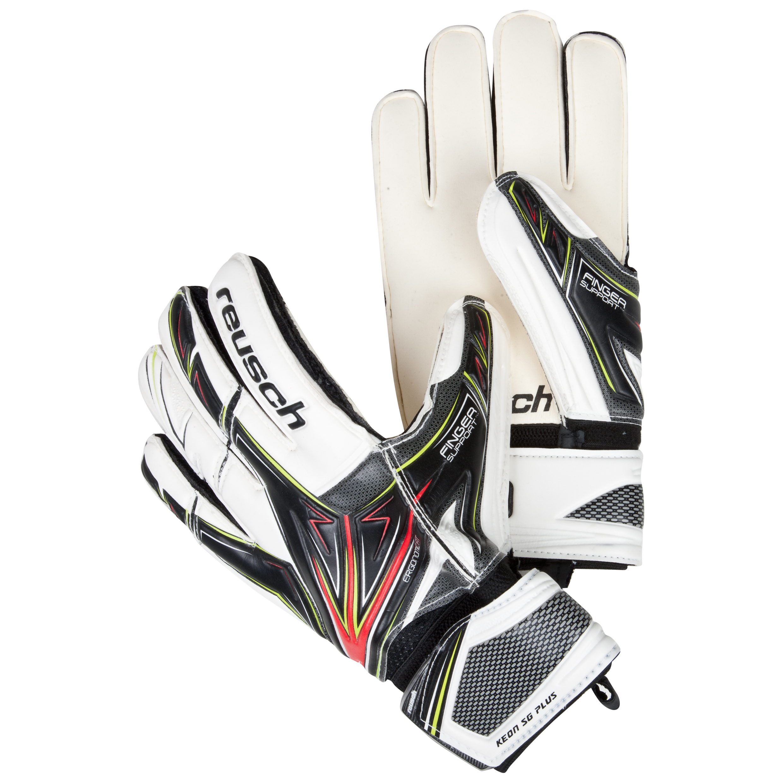 Reusch Keon Pro SG Plus Goalkeeper Gloves - Black/White