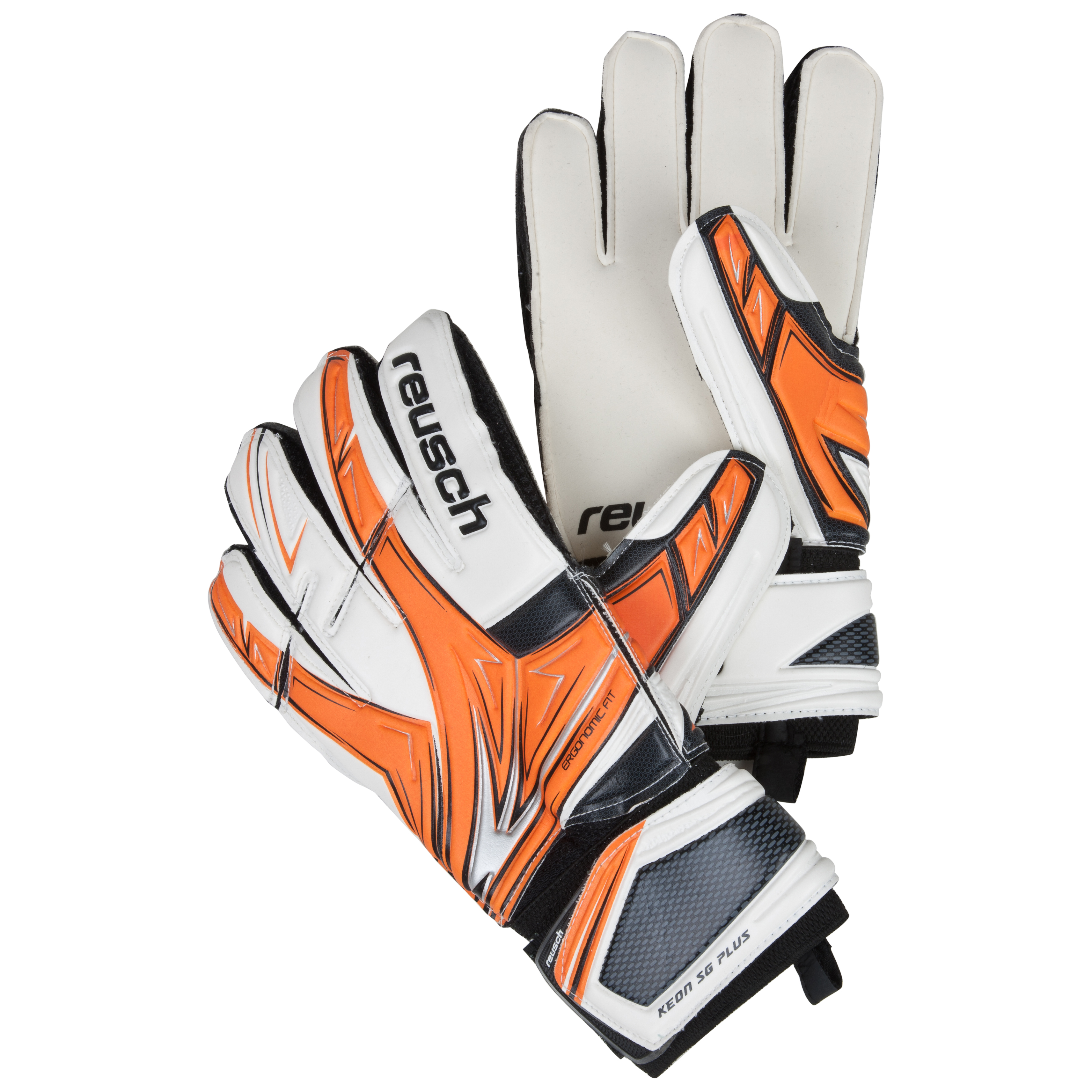 Reusch Keon Pro SG Ortho-Tec LTD Goalkeeper Gloves - Kids-Orange/Black/Ltd
