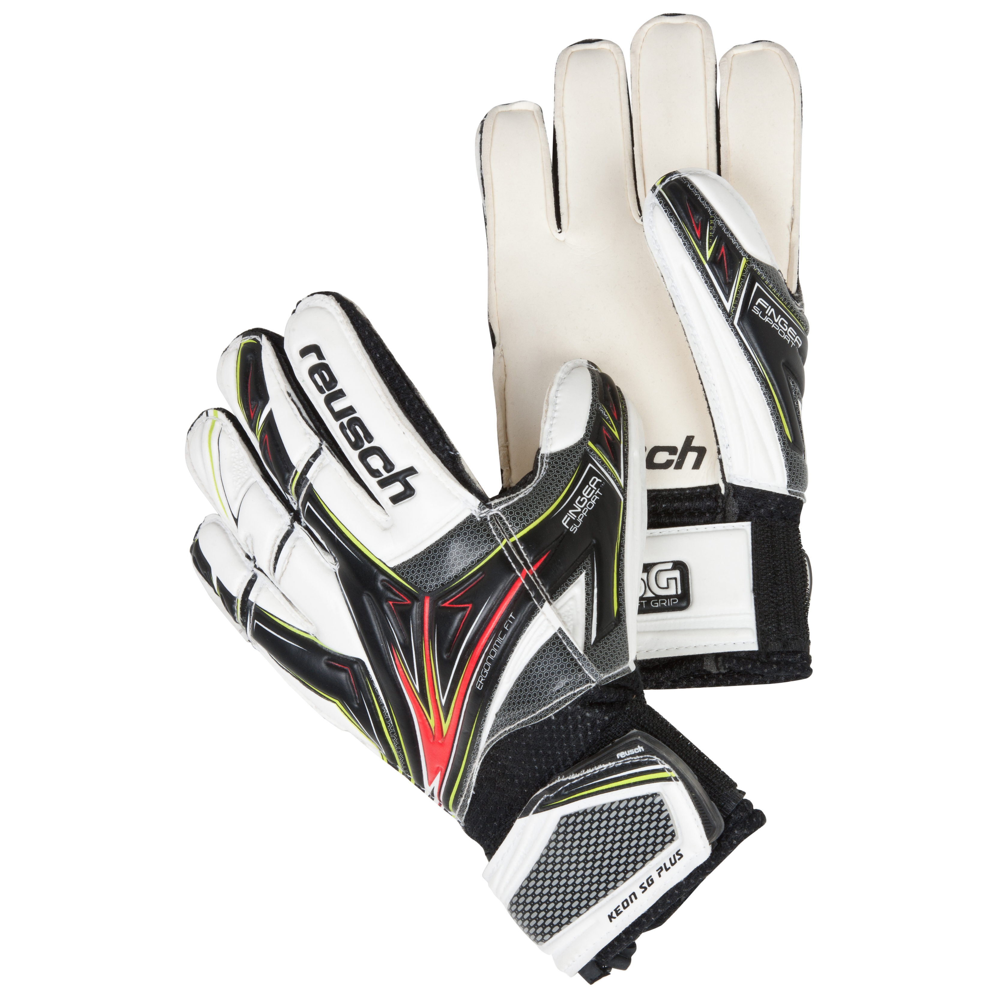 Reusch Keon SG Plus Goalkeeper Gloves - Kids-Black/White