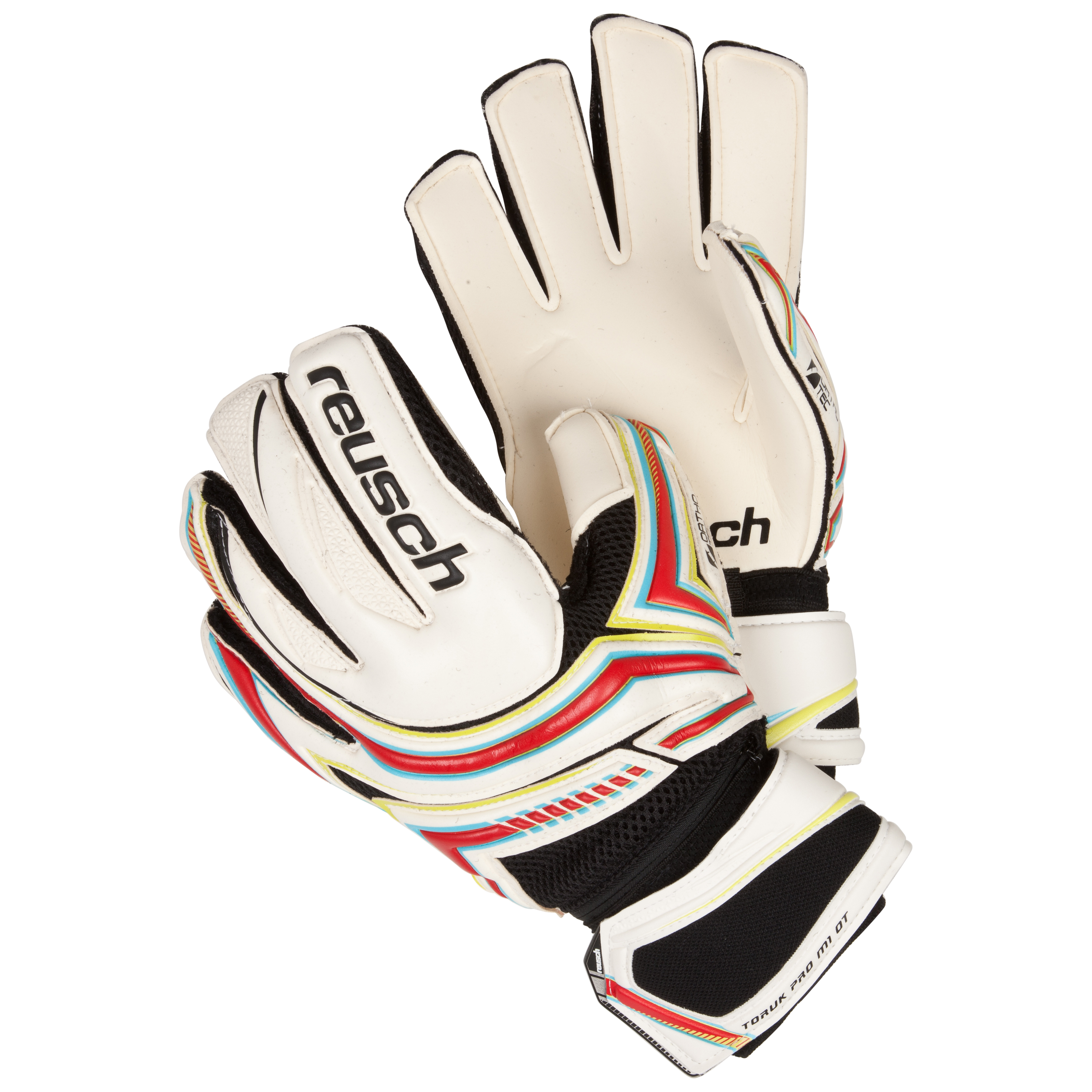 Reusch Toruk Pro M1 Ortho-Tec Goalkeeper Gloves-White/Fire Red/Lime Green