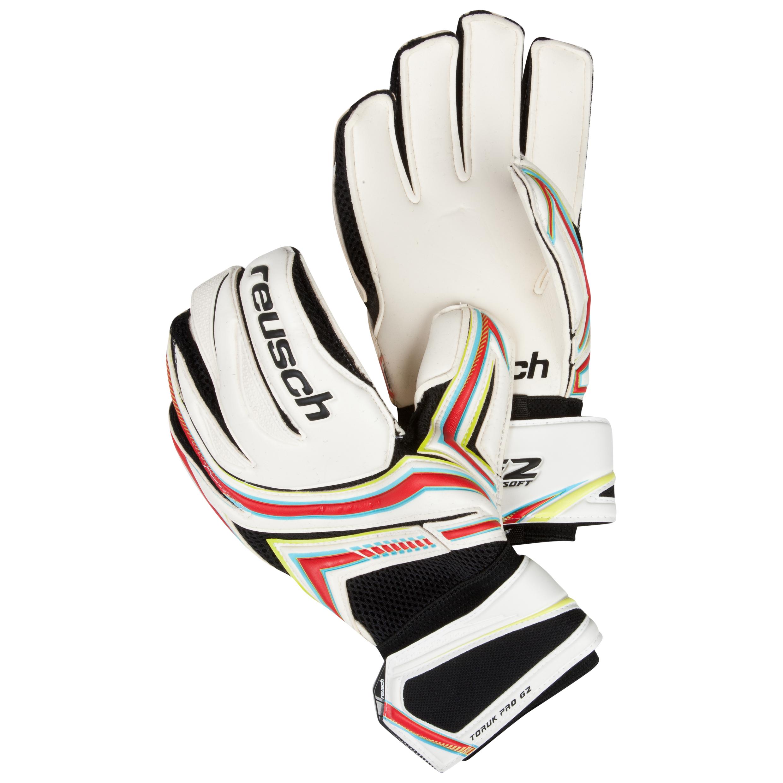 Reusch Toruk Pro G2 Goalkeeper Gloves-White/Fire Red/Lime Green
