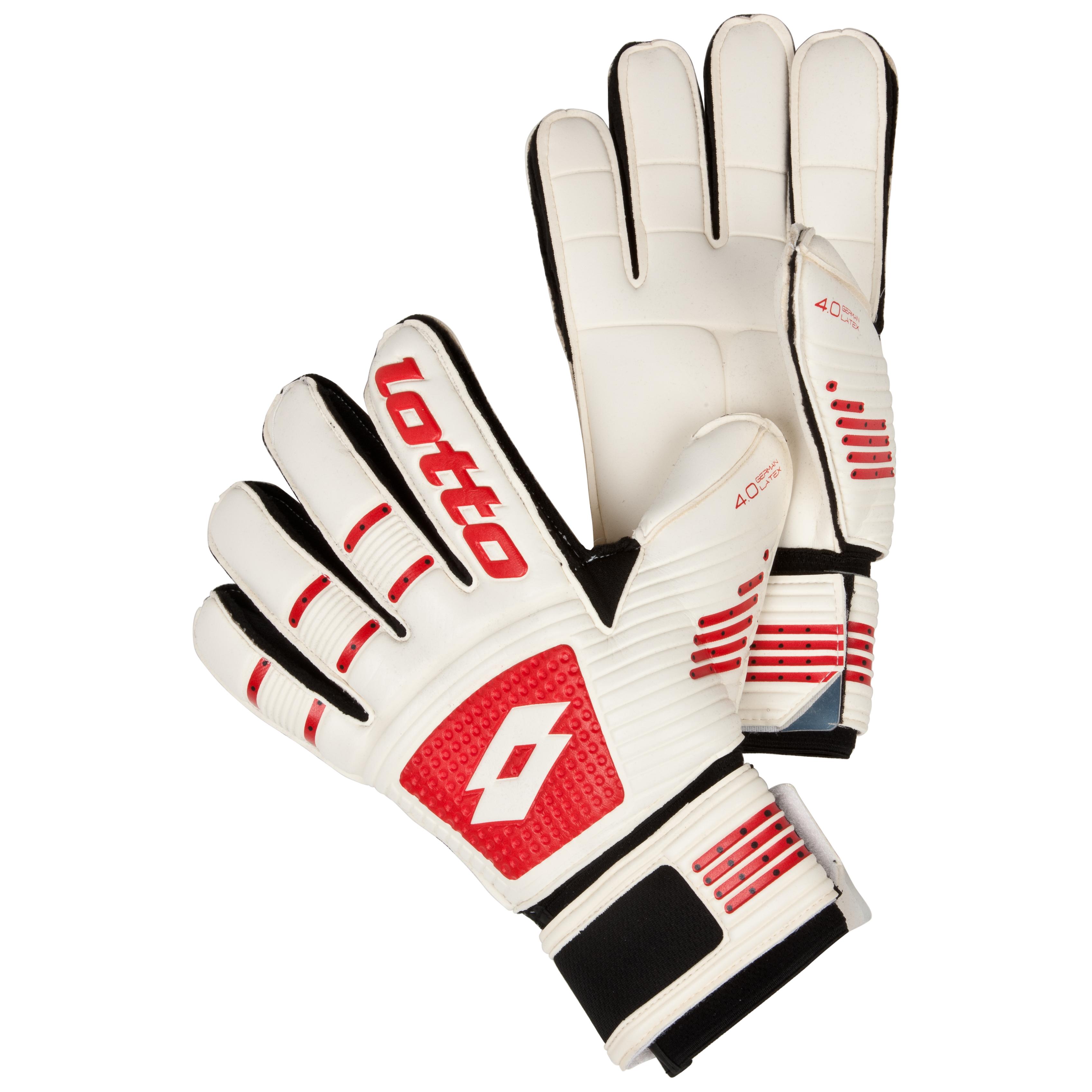 Lotto Gripster GK100 III Goalkeeper Gloves-White/Risk Red