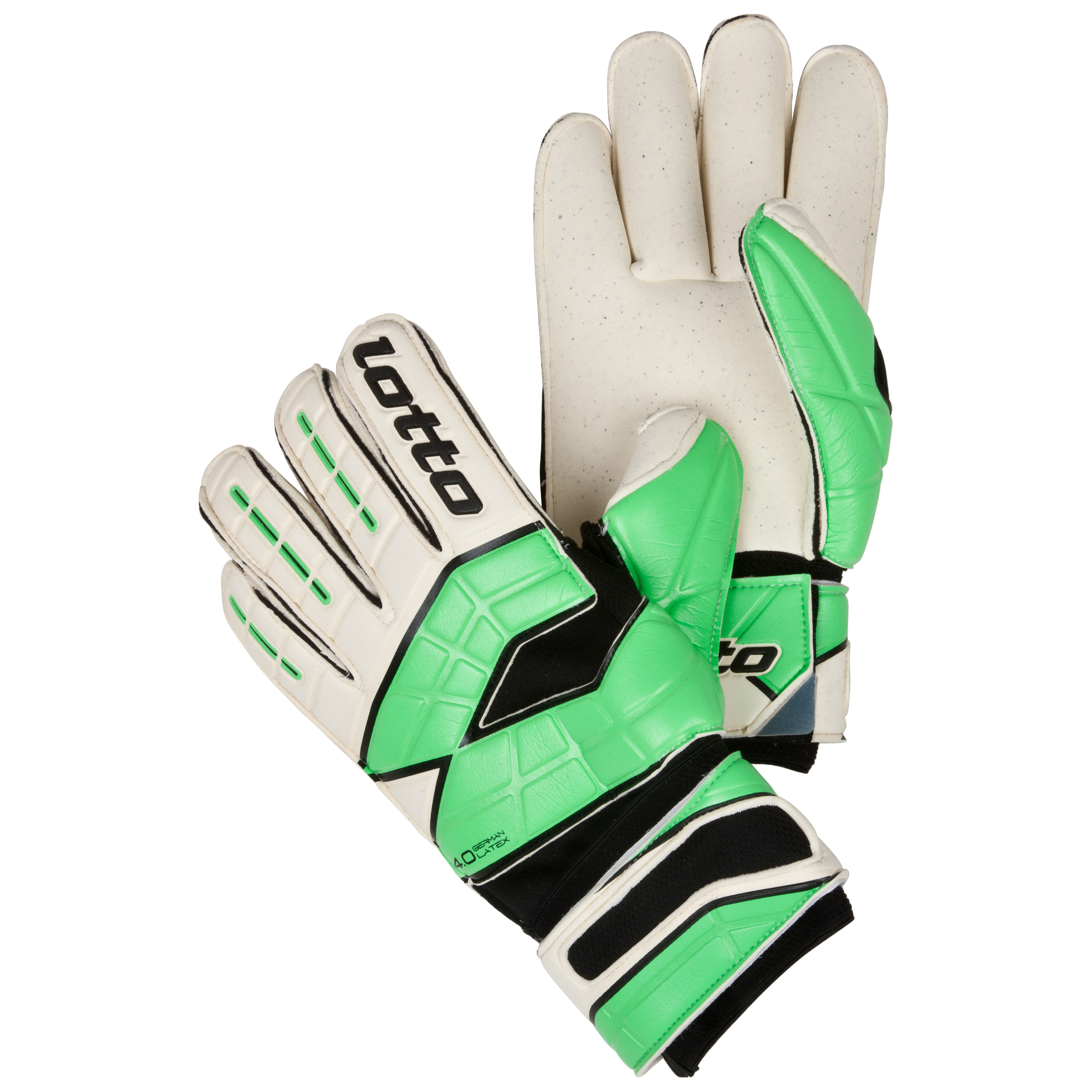 Lotto Gripster GK250 II Goalkeeper Gloves-White/Mt.N.Green