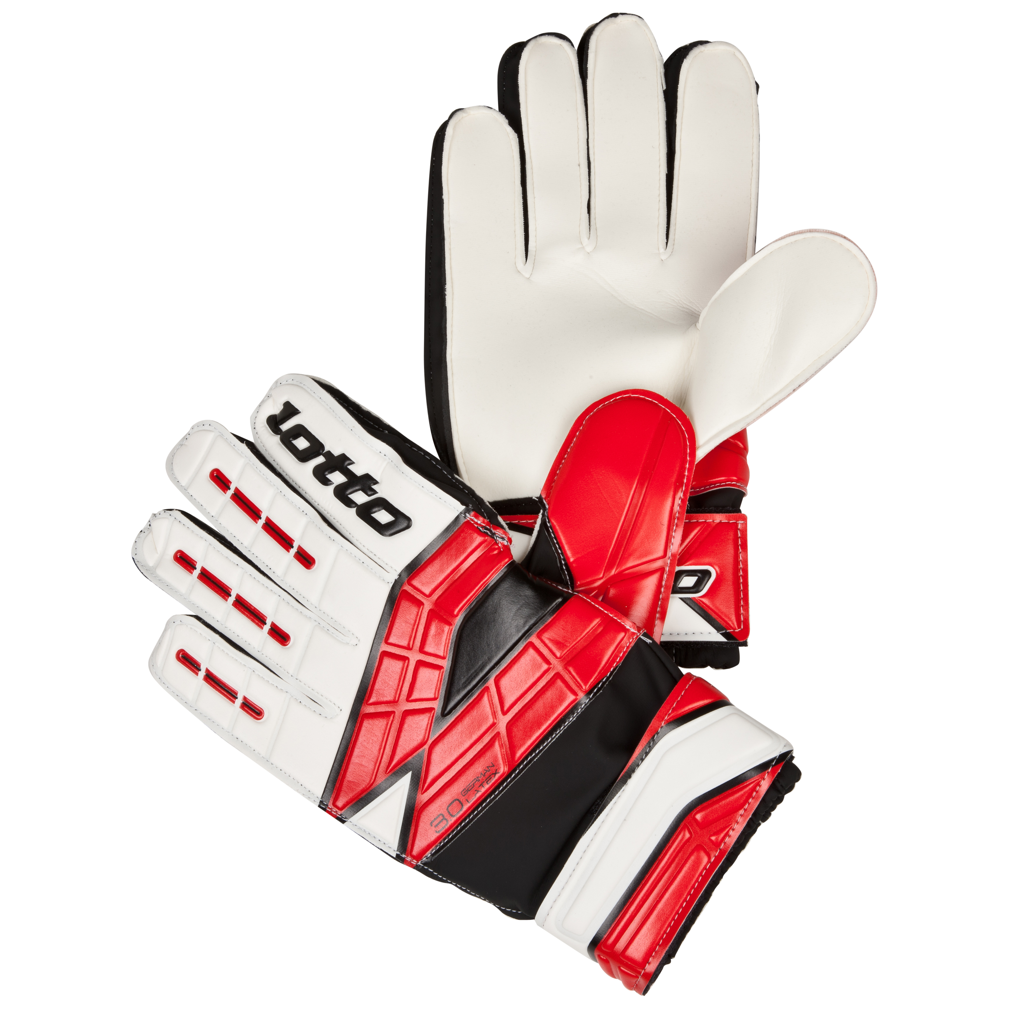 Lotto Gripster GK800 II Goalkeeper Gloves-White/Risk Red
