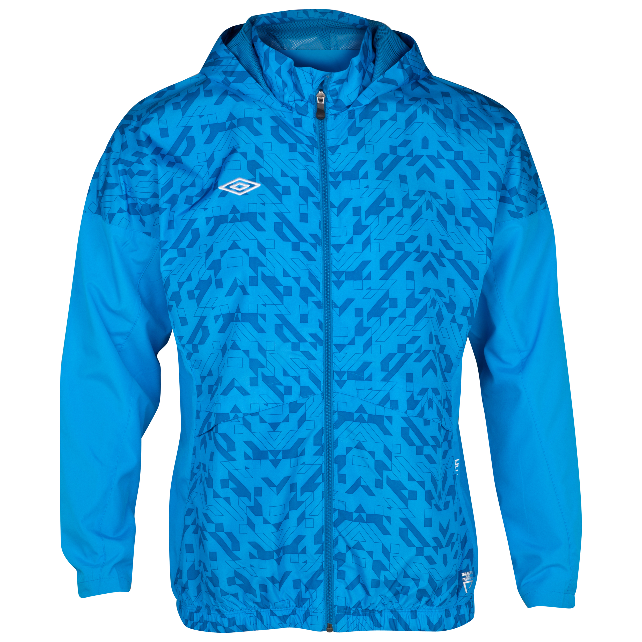Umbro Geometra Shower Woven Jacket - Brilliant Blue