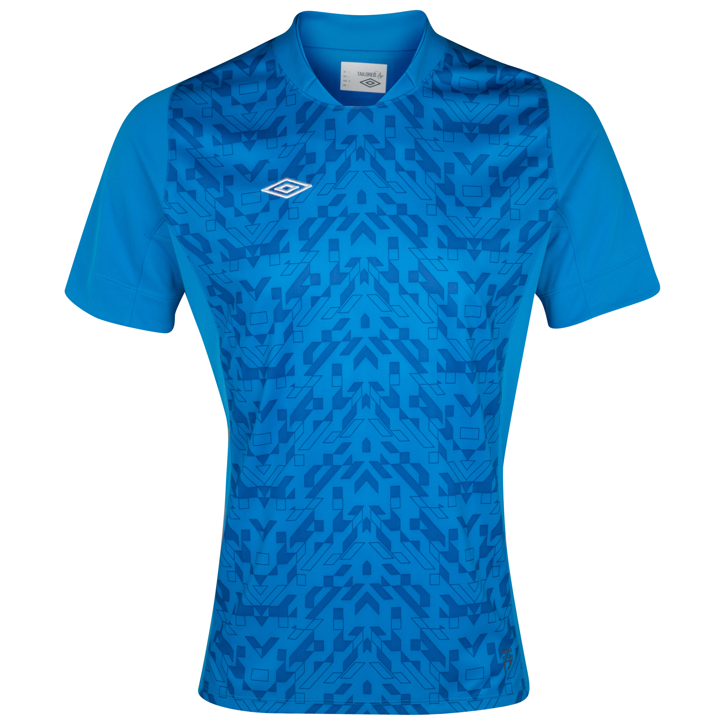 Umbro Geometra Graphic Poly Knit Tee - Brilliant Blue