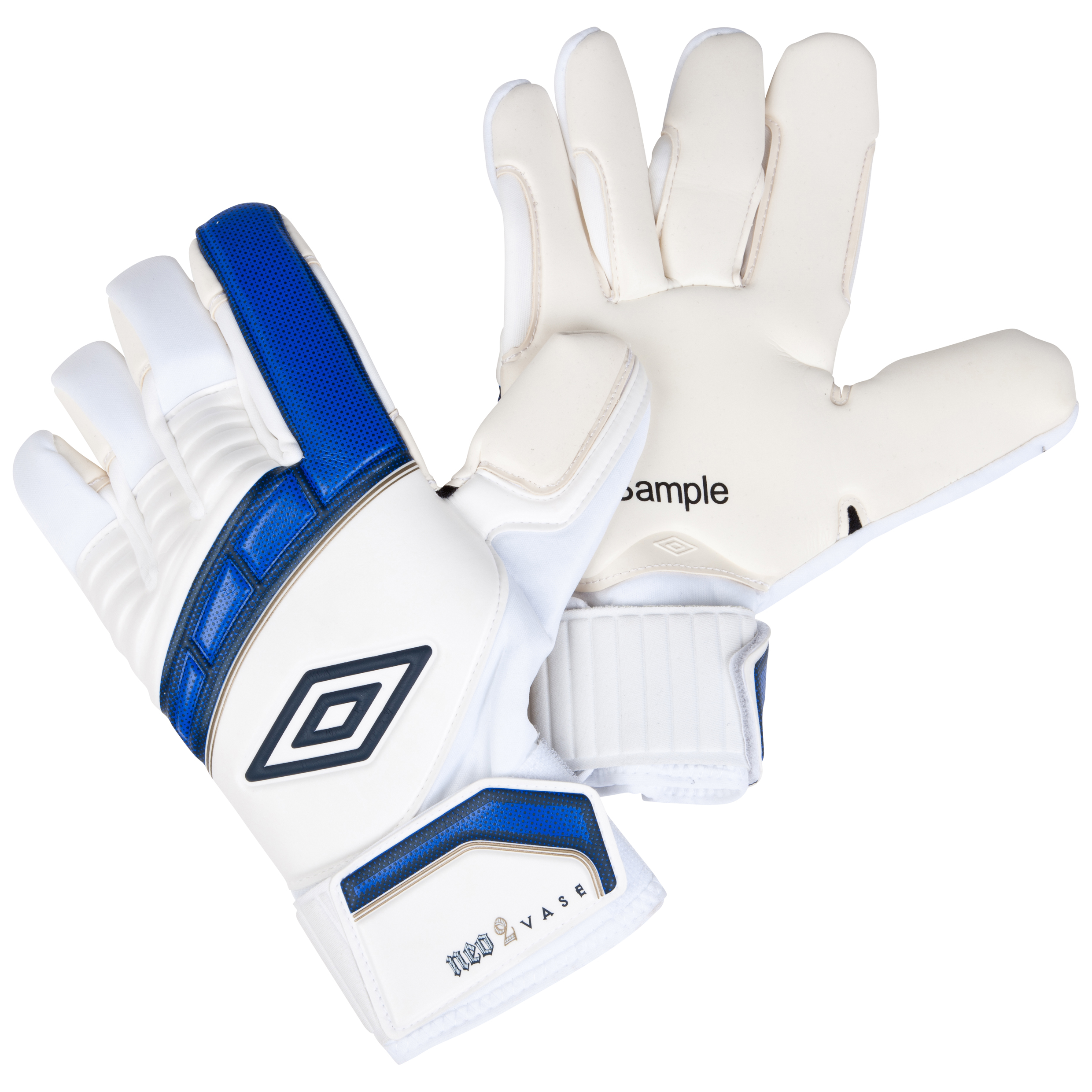 Umbro Neo Vase Goalkeeper Gloves-White / Twilight Blue / Gold