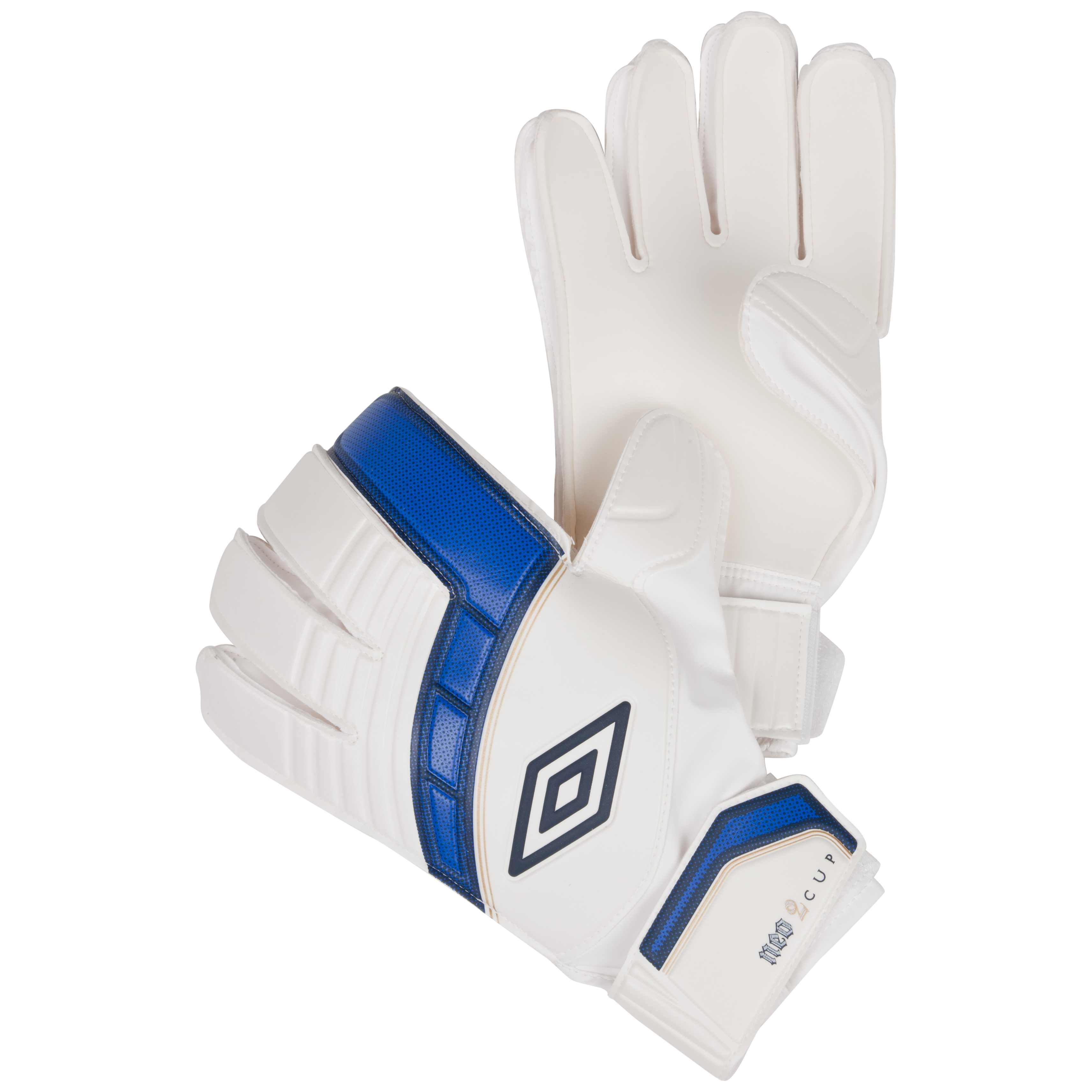 Umbro Neo Cup Goalkeeper Gloves-White / Twilight Blue / Gold