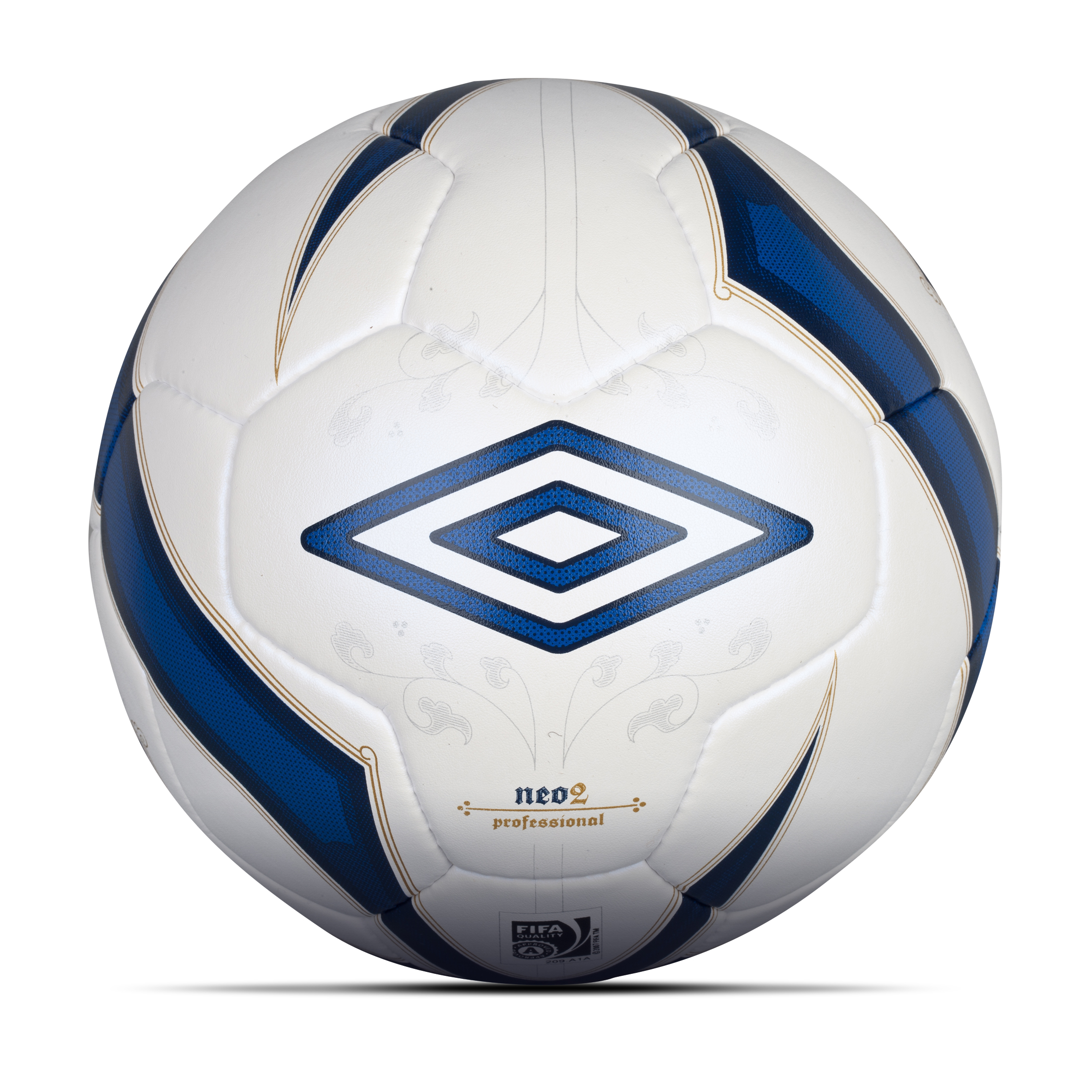 Umbro Neo 2 Pro Football-White / Twilight Blue / Gold