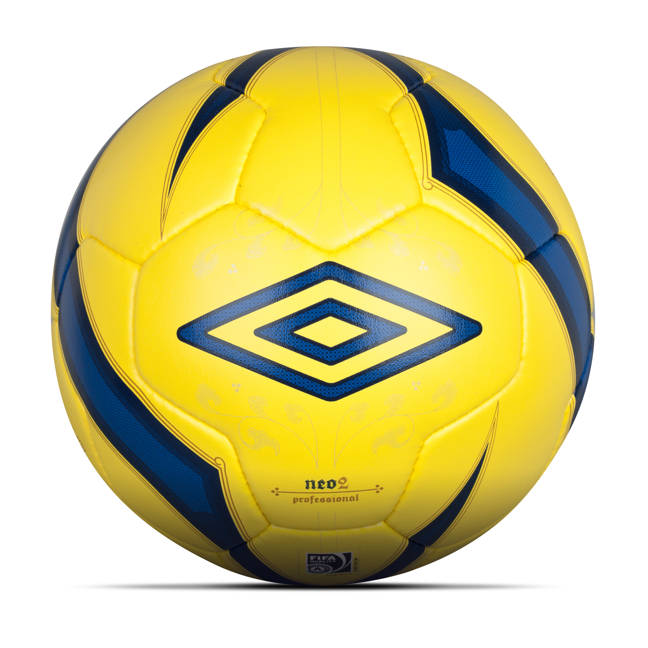 Umbro Neo 2 Pro Hi Vis Football-Yellow / Twilight Blue / Gold