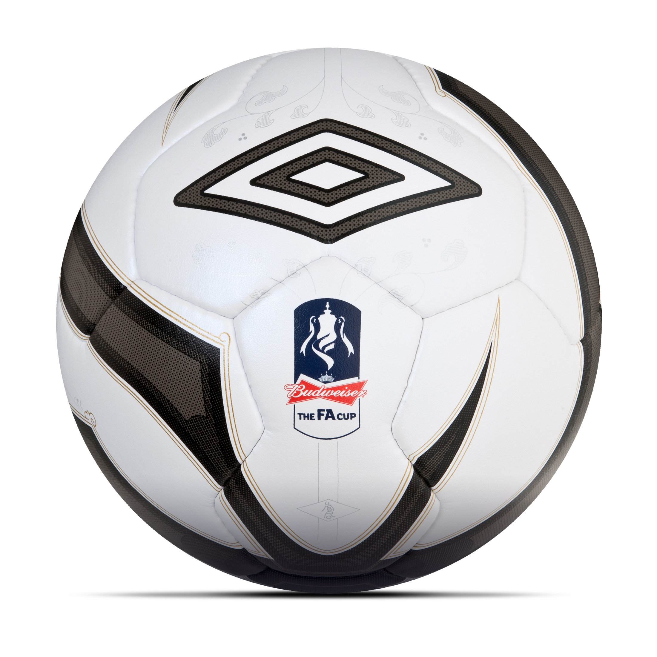 Umbro Neo Pro 2 FA Cup 2012/13 Official Match Ball - White/Black/Gold