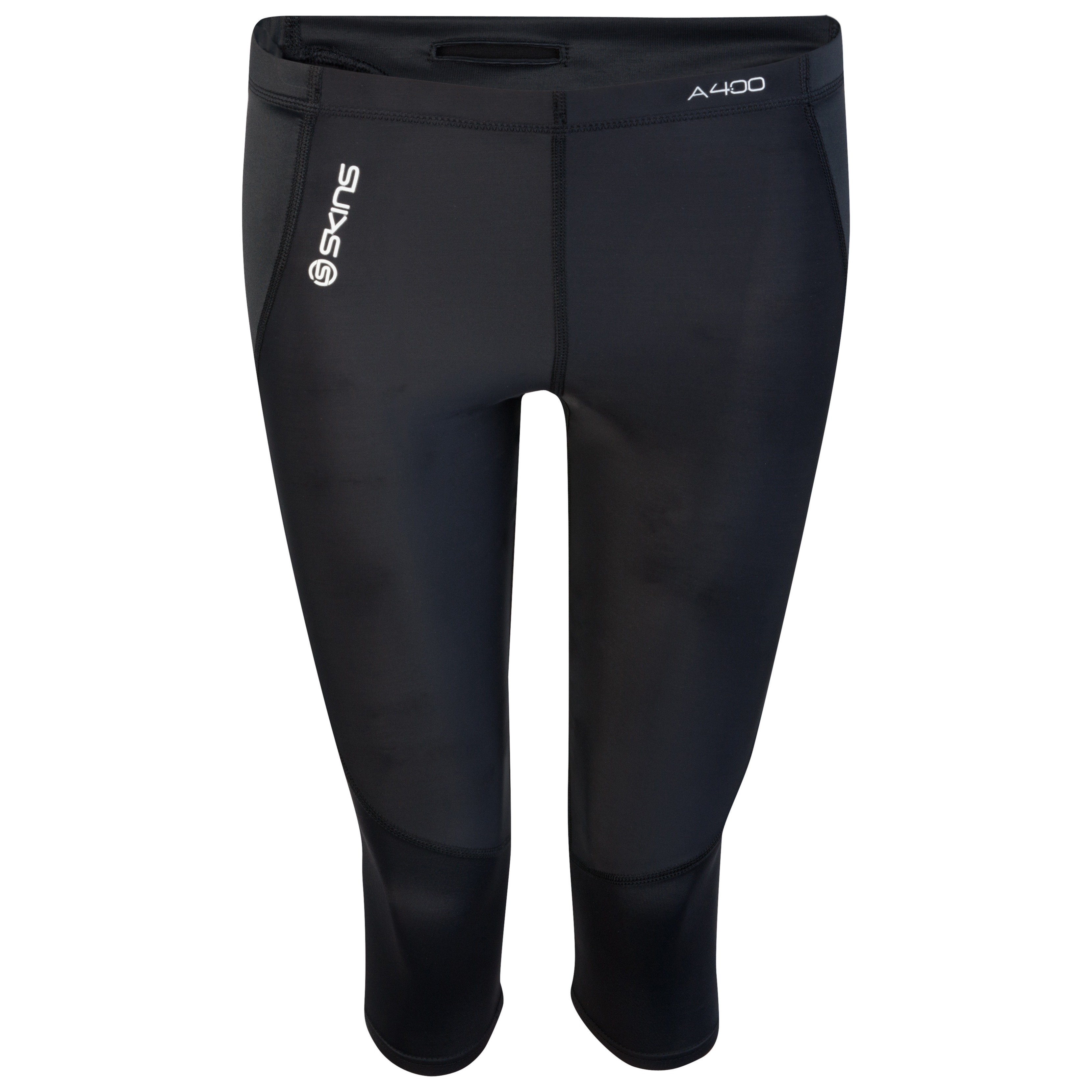 Skins A400 Active 3/4 Tights - Black/Silver - Womens