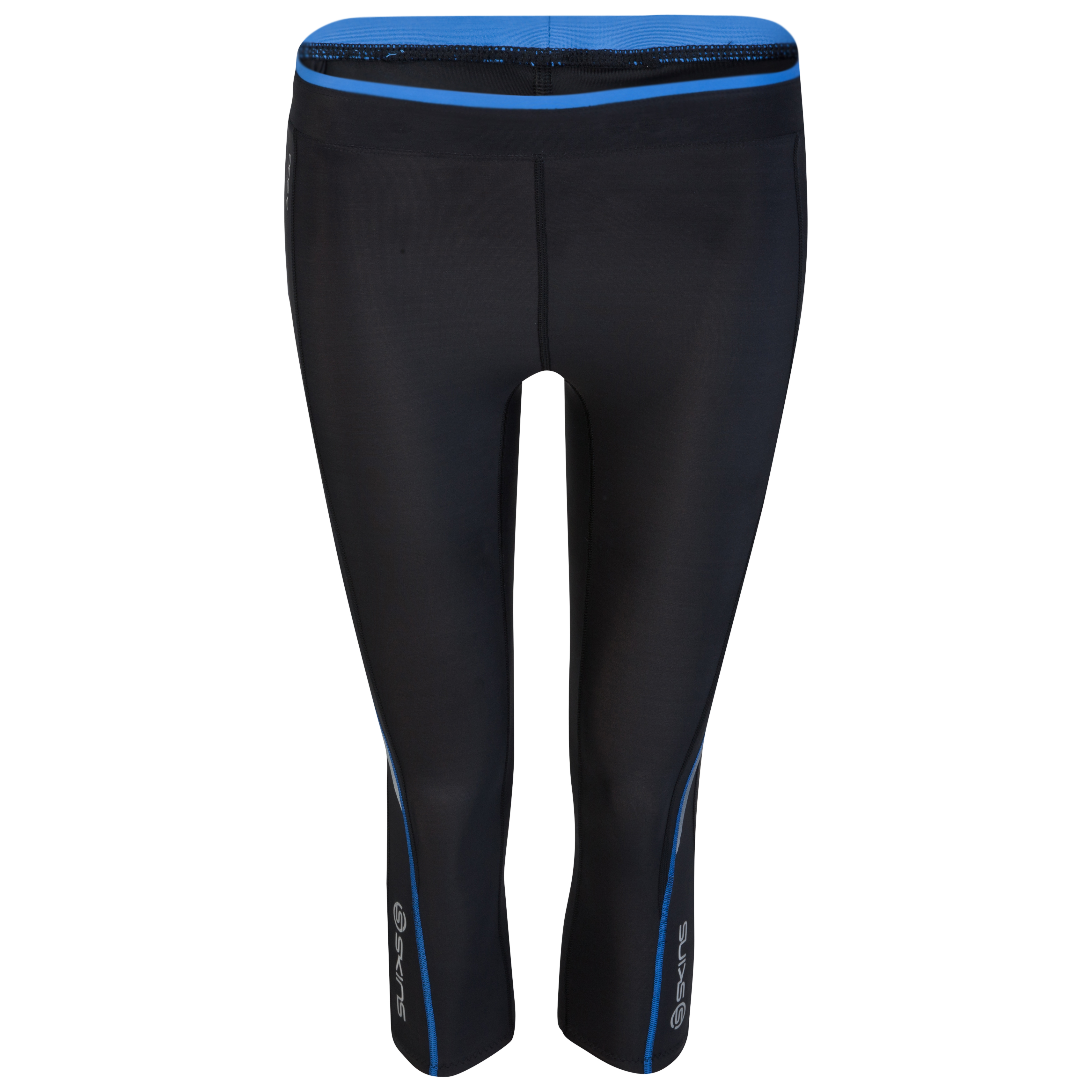 Skins A200 3/4 Tights - Black/Blue - Womens