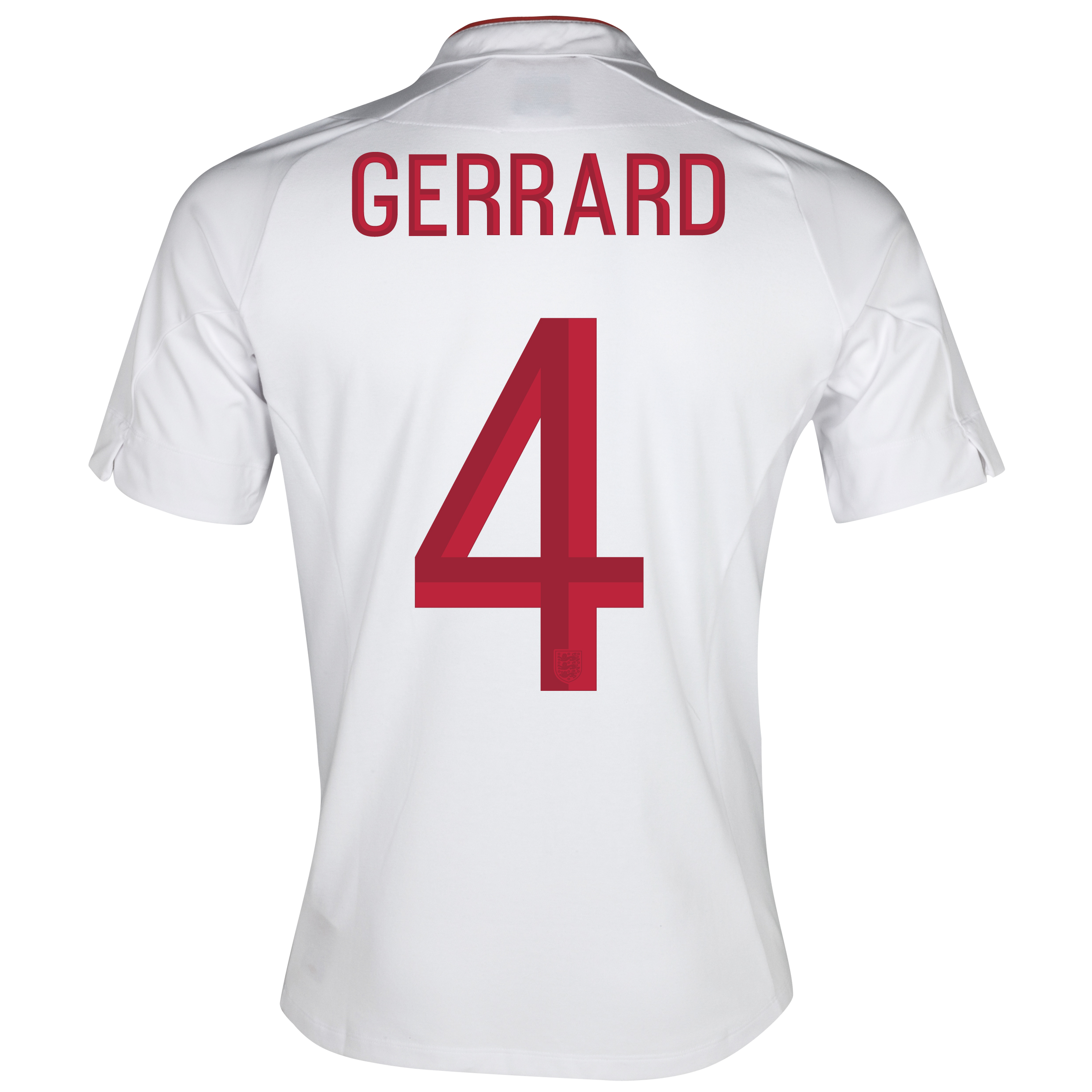 England Home Shirt 2012/13 - Boys with Gerrard 4 printing