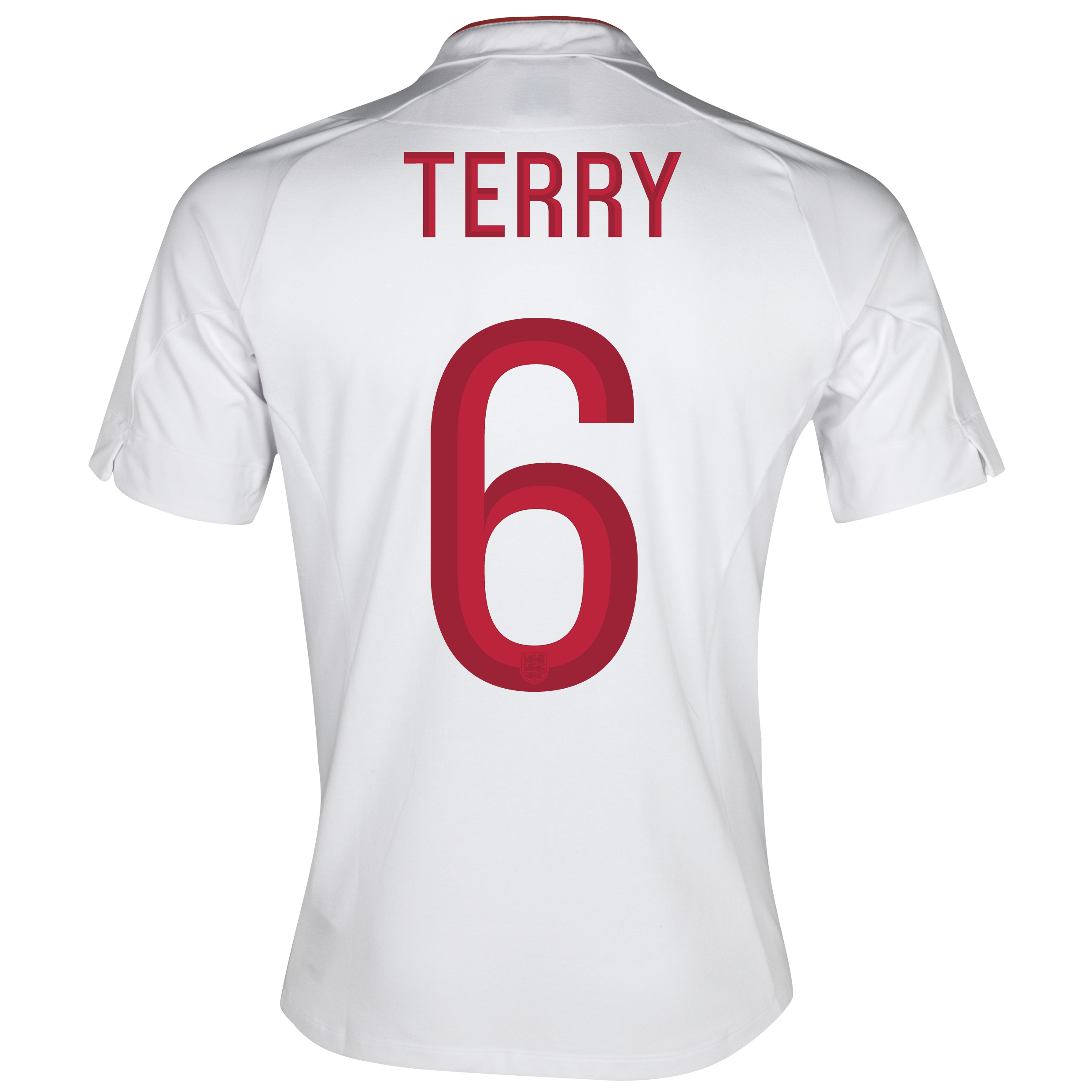 England Home Shirt 2012/13 - Boys with Terry 6 printing