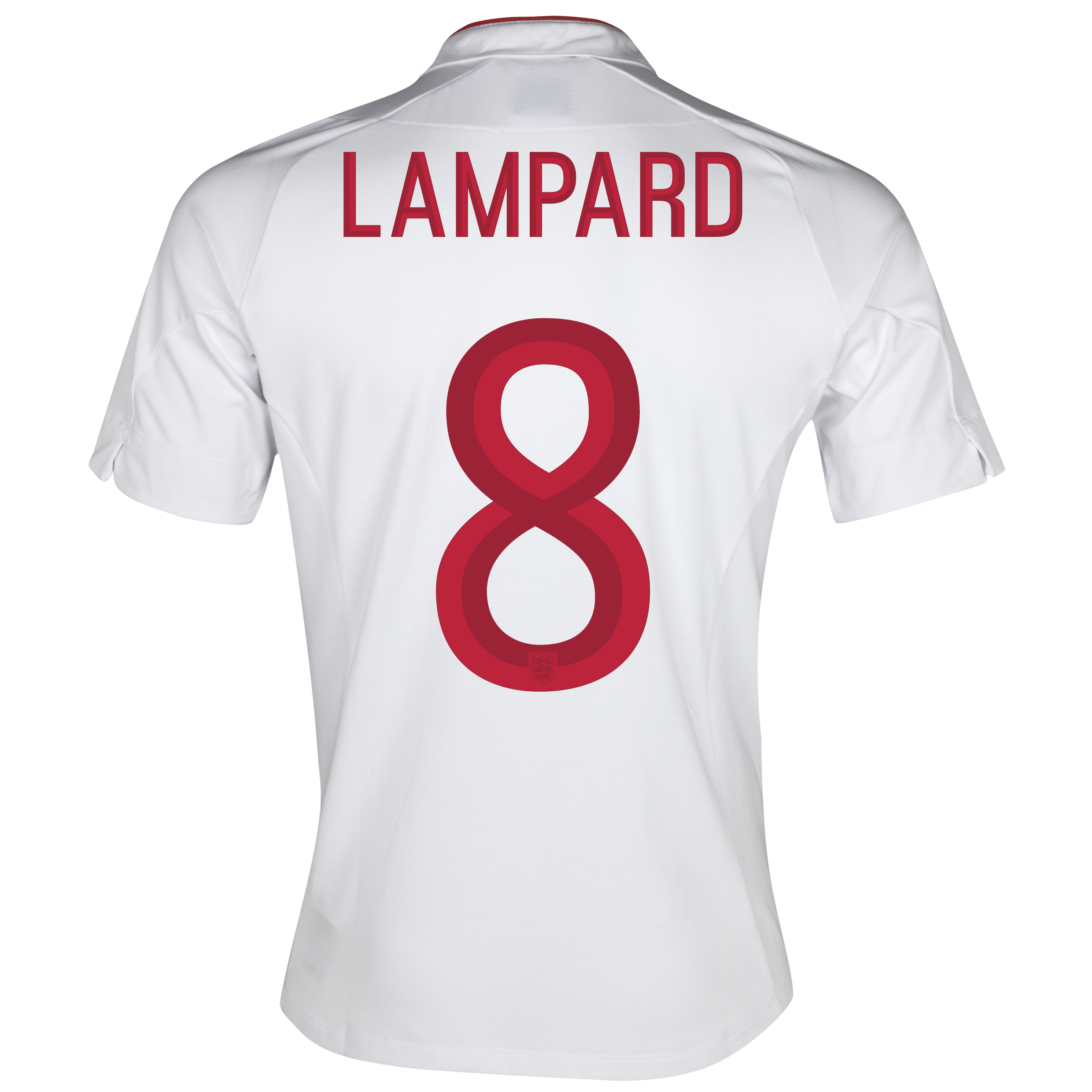 England Home Shirt 2012/13 - Boys with Lampard 8 printing