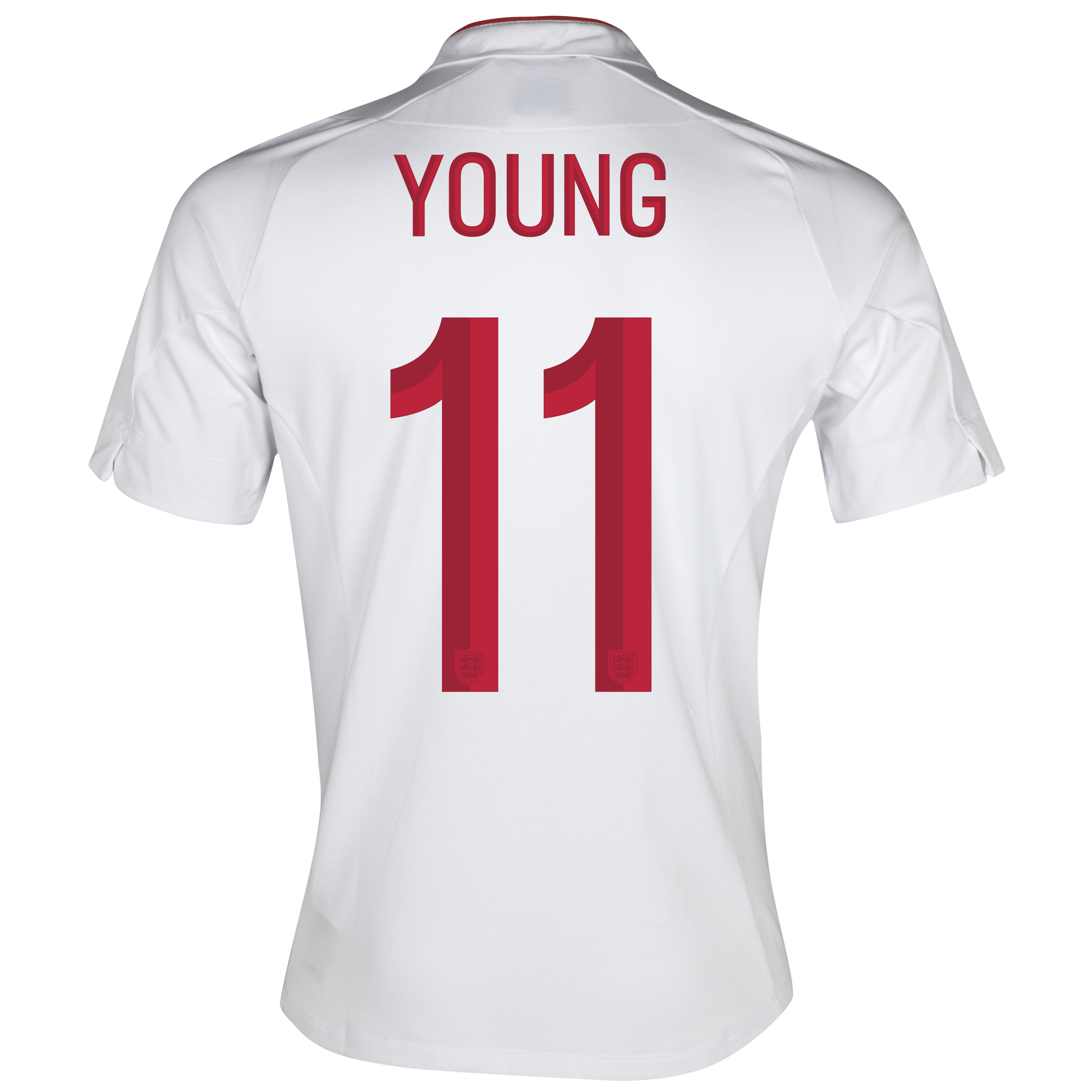 England Home Shirt 2012/13 - Boys with Young 11 printing