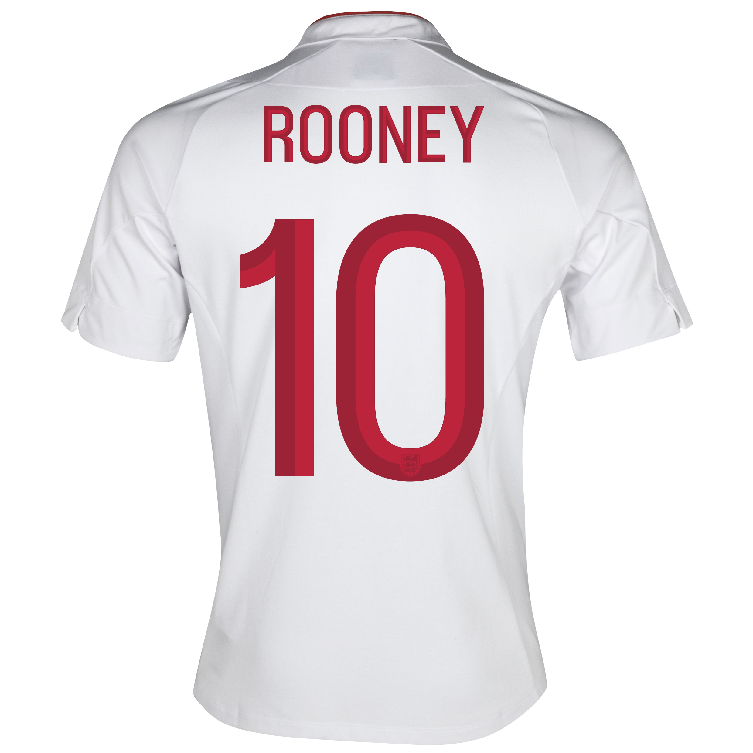 England Home Shirt 2012/13 - Boys with Rooney 10 printing