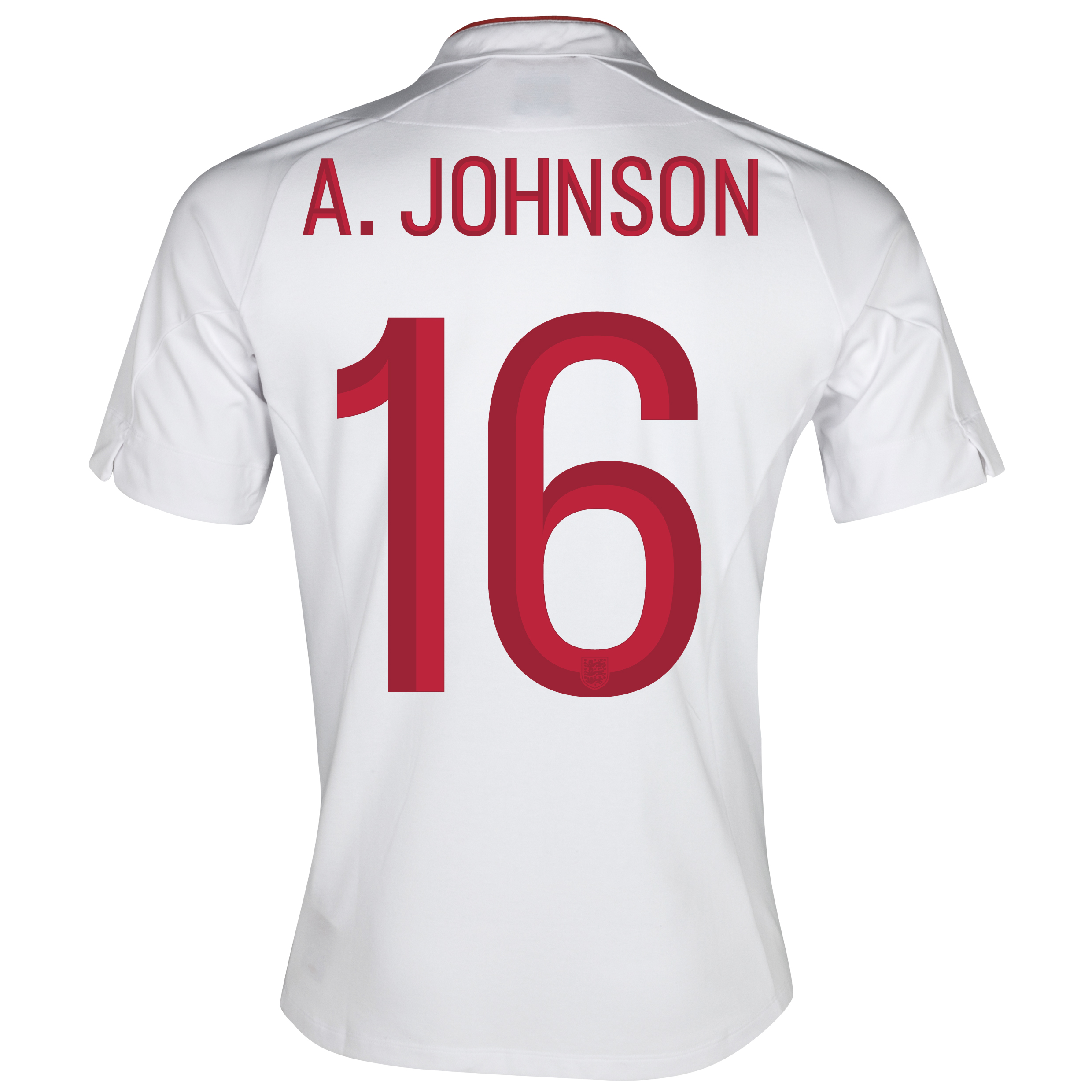 England Home Shirt 2012/13 - Boys with A.Johnson 16 printing