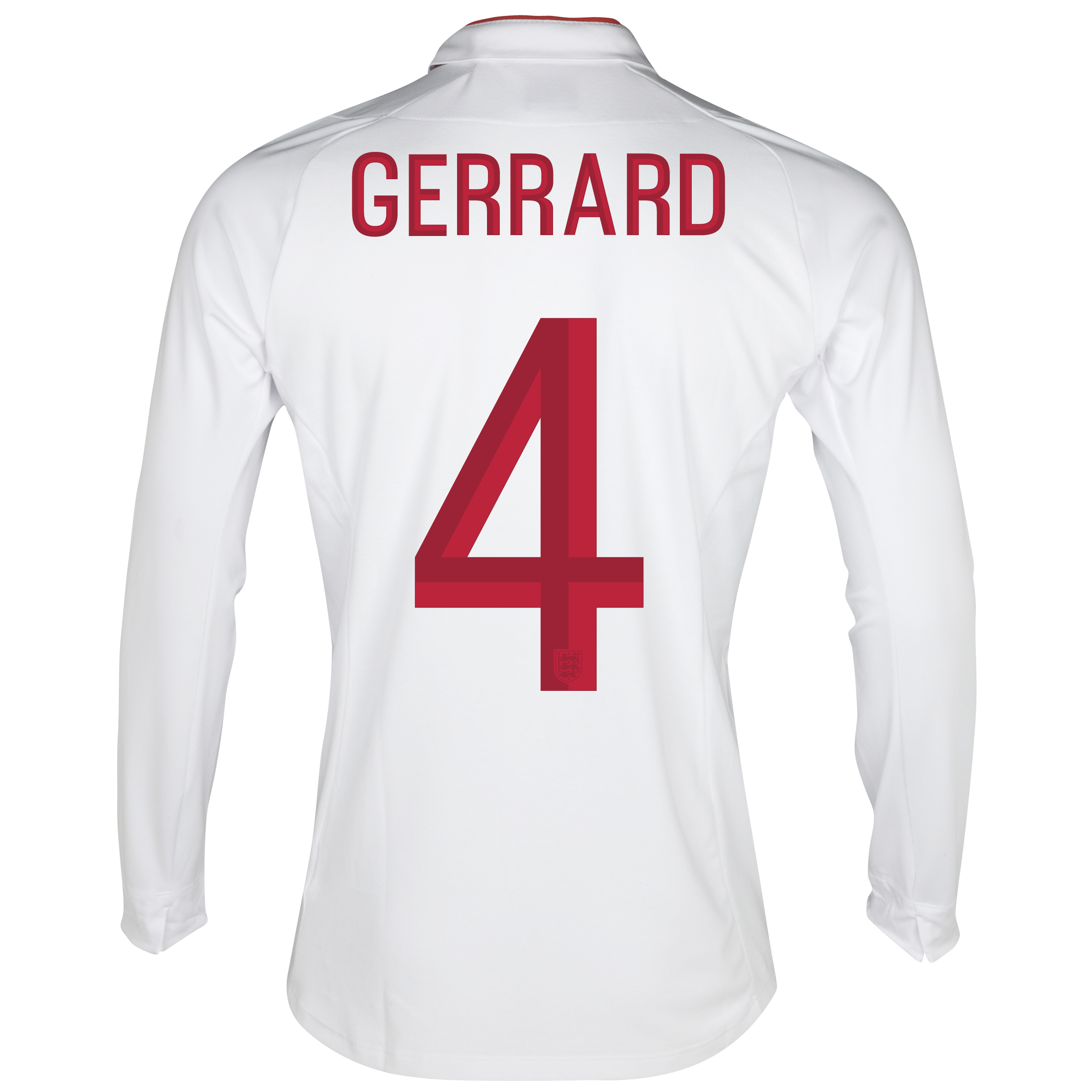 England Home Shirt 2012/13 - Long Sleeve - Boys with Gerrard 4 printing