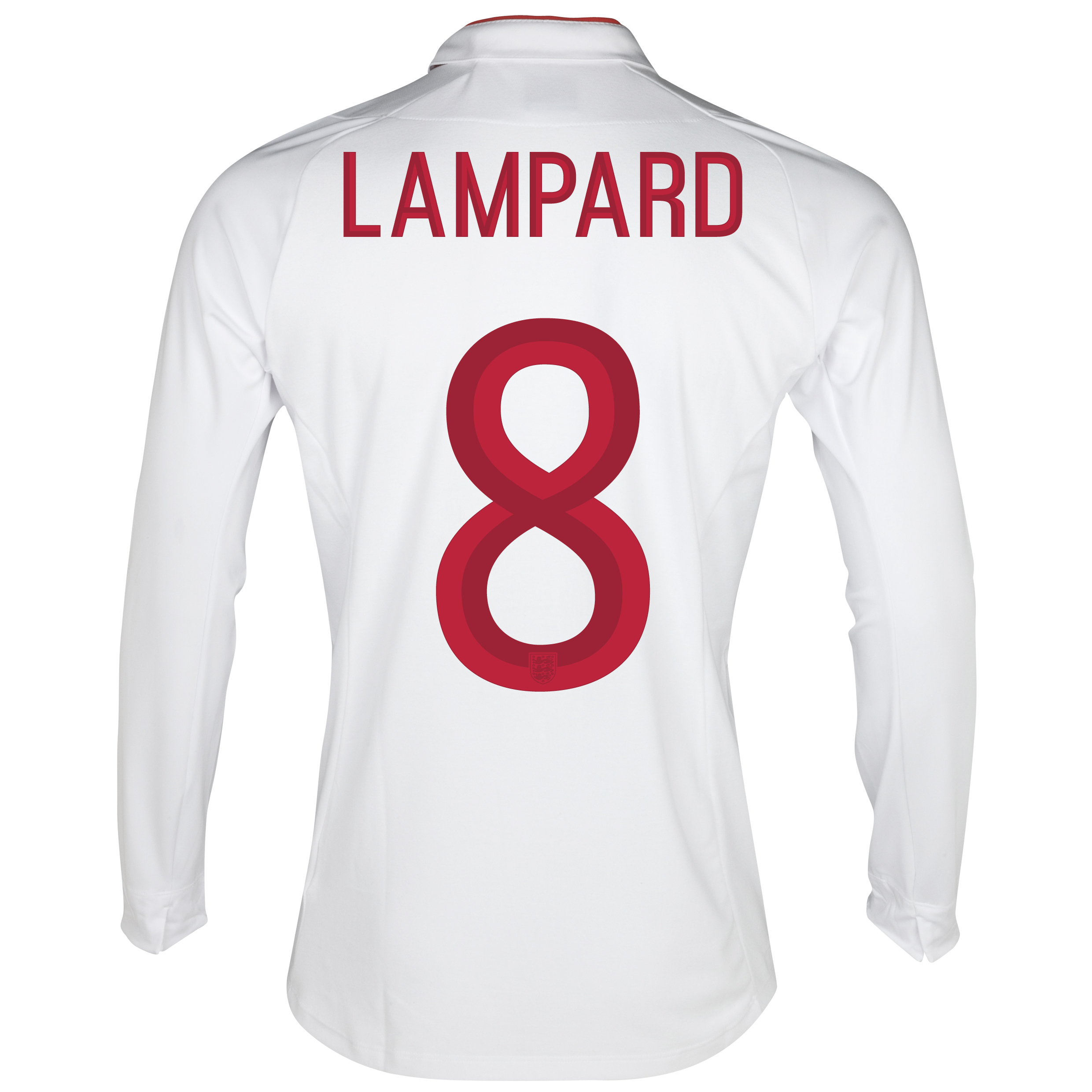 England Home Shirt 2012/13 - Long Sleeve - Boys with Lampard 8 printing