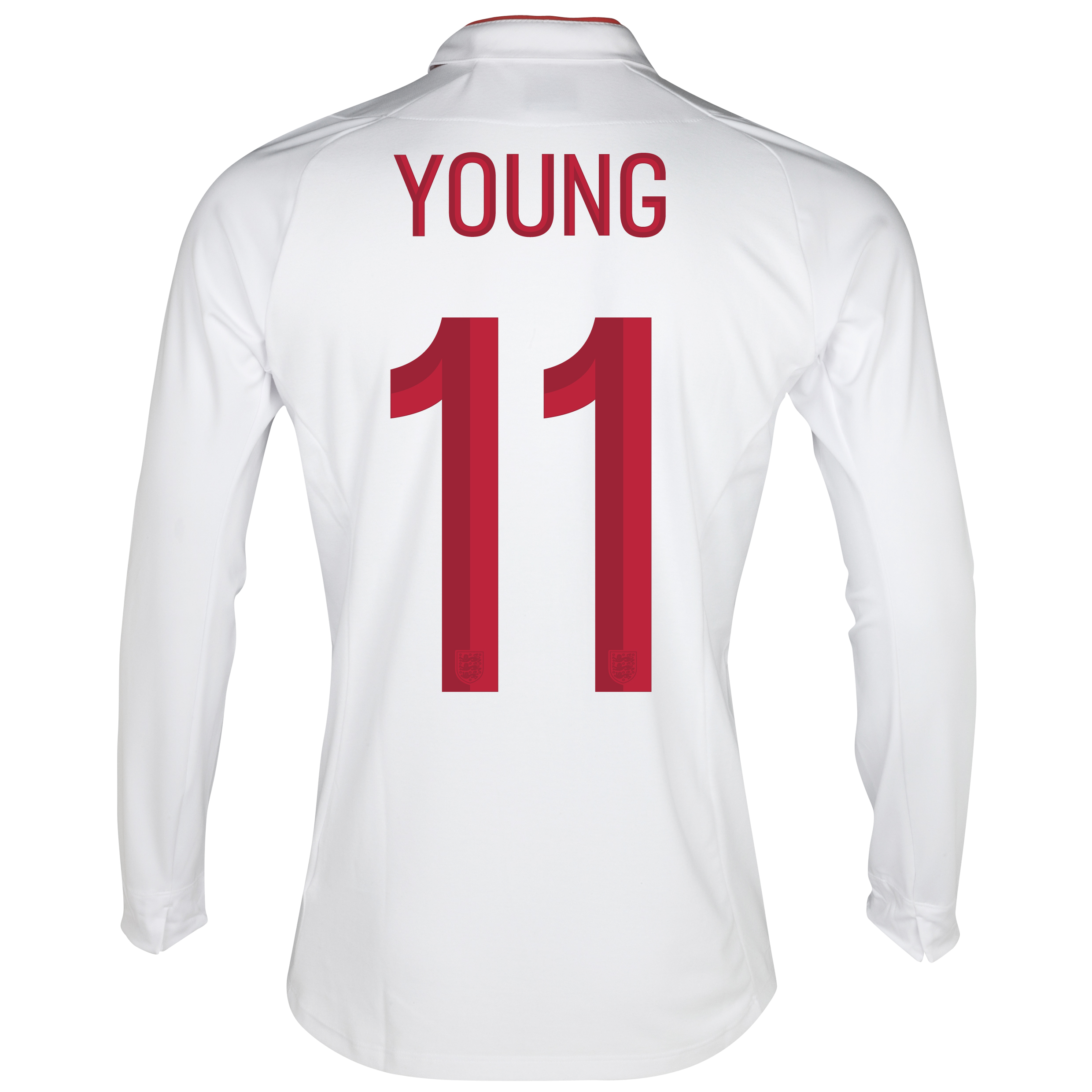 England Home Shirt 2012/13 - Long Sleeve - Boys with Young 11 printing