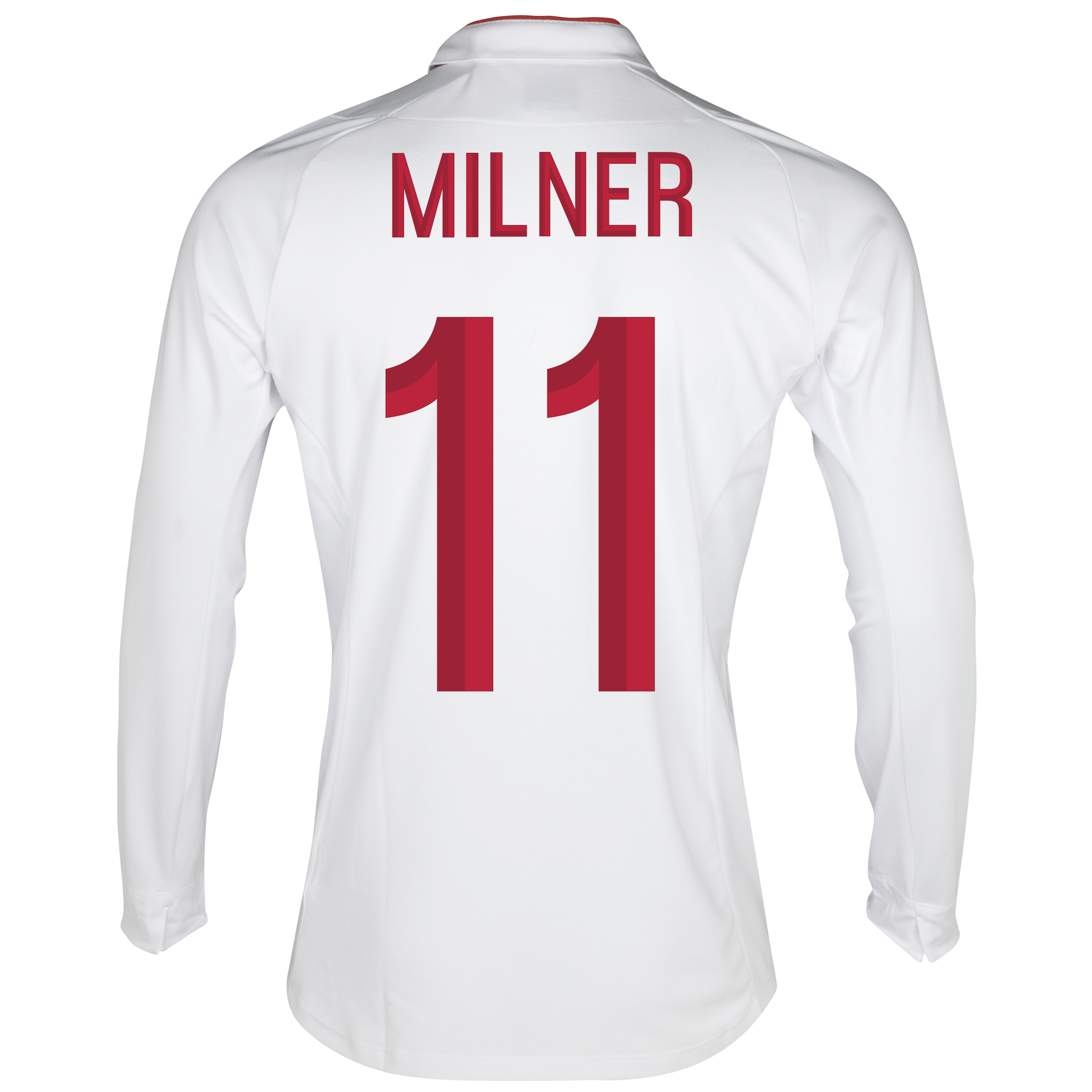 England Home Shirt 2012/13 - Long Sleeve - Boys with Milner 16 printing