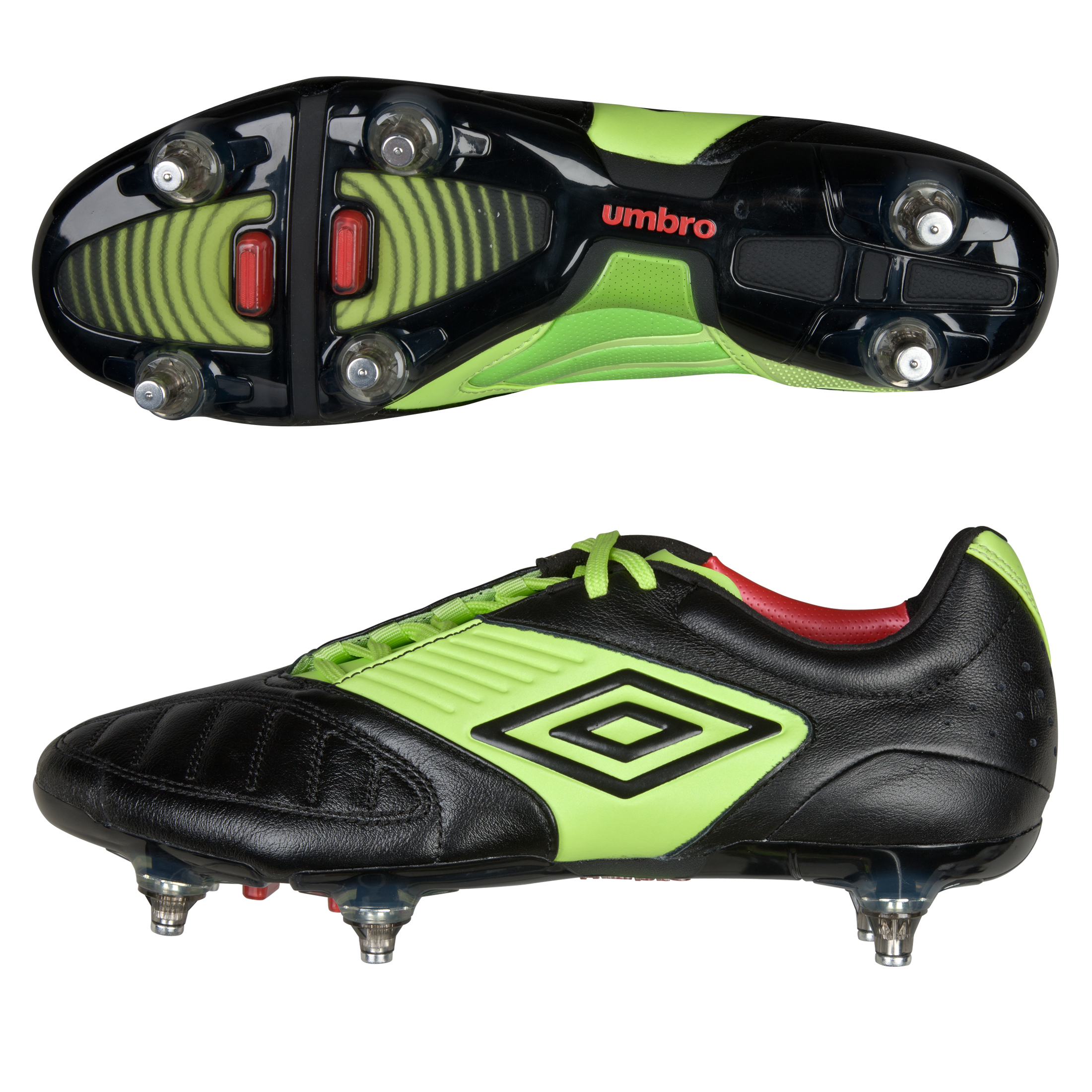 Umbro Geometra Pro Sg- Black/White/Sharp Green/True Red