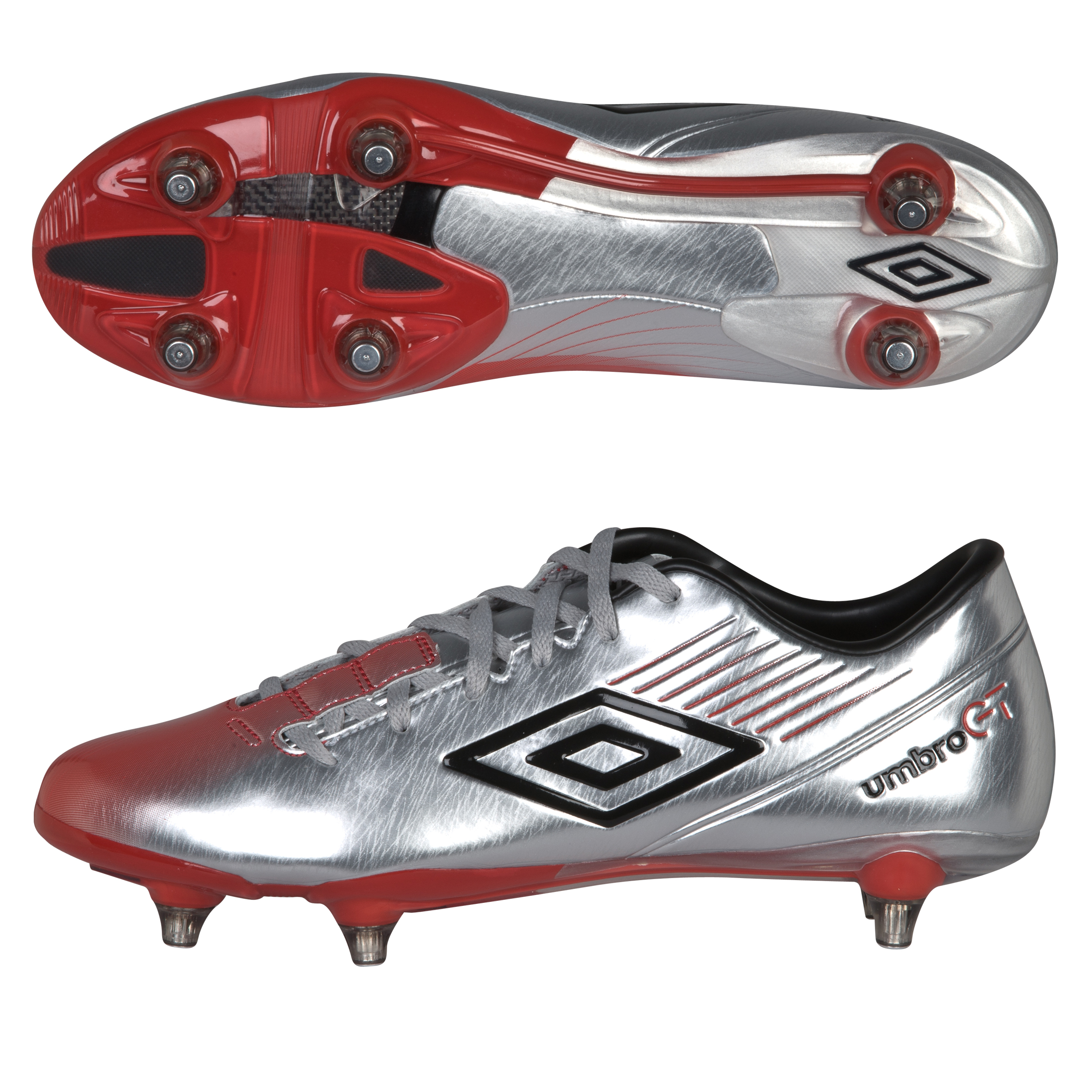 Umbro Gt II Pro-A Sg- Silver / Black / True Red