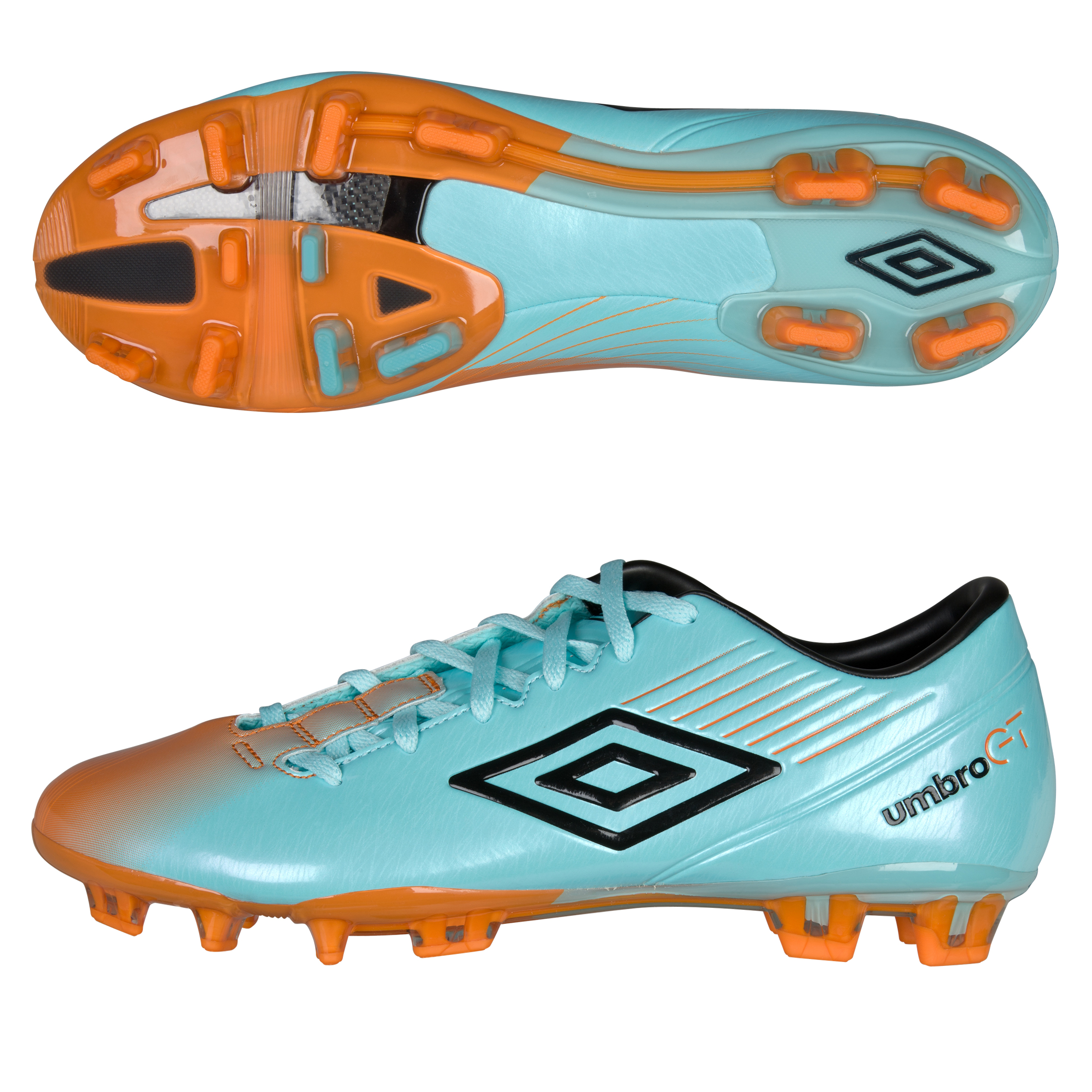 Umbro Gt II Pro-A Fg - Blue Radiance / Black / Orange Popsicle