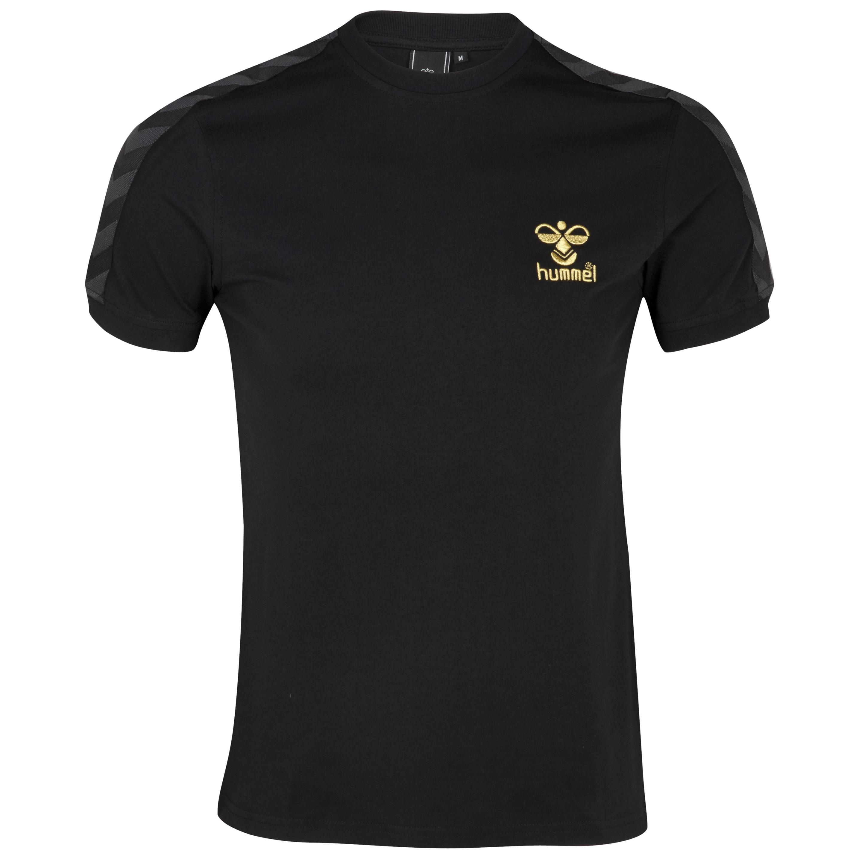 Hummel Davenport T-Shirt - Black/Gold