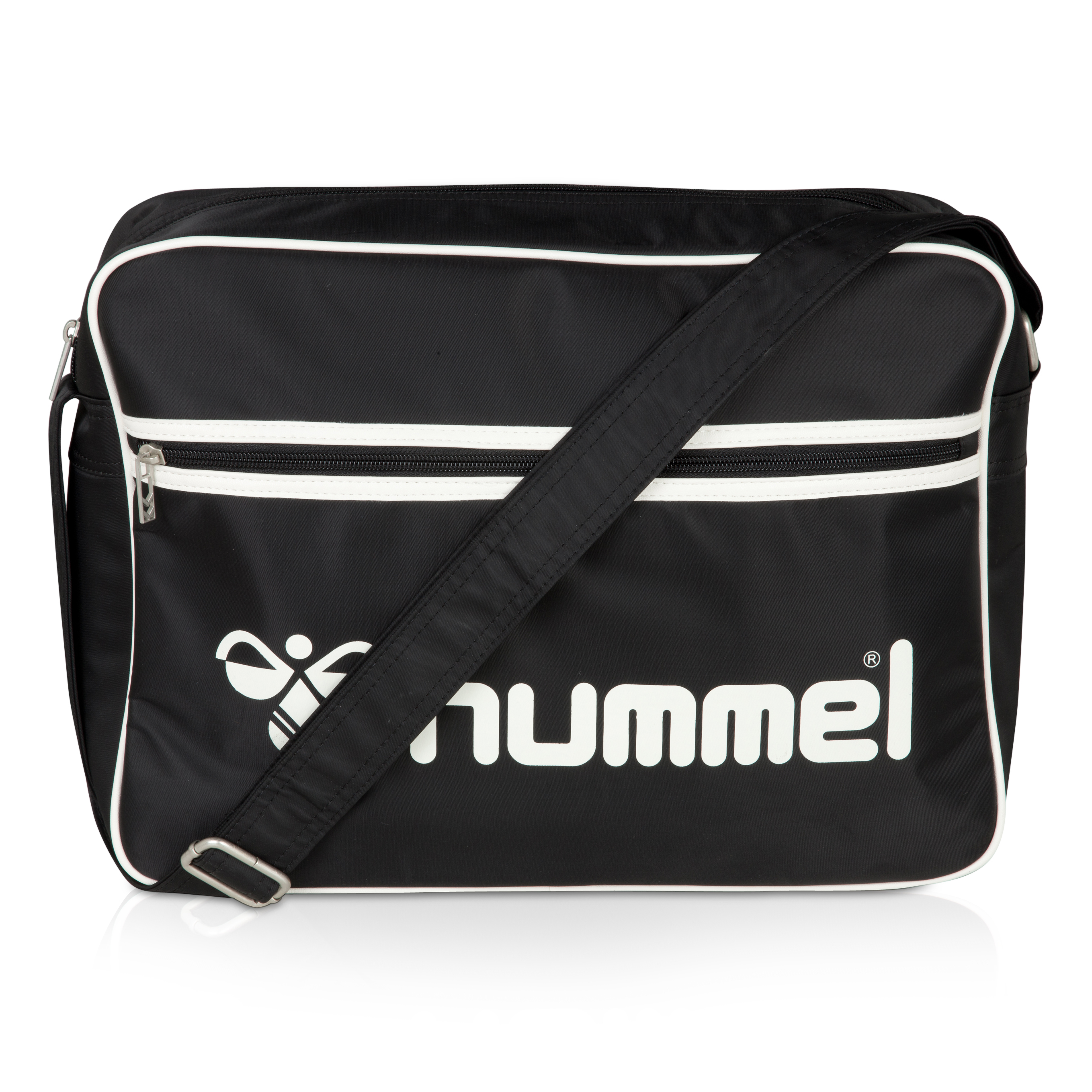 Hummel Logo Shoulder Bag - Black/White