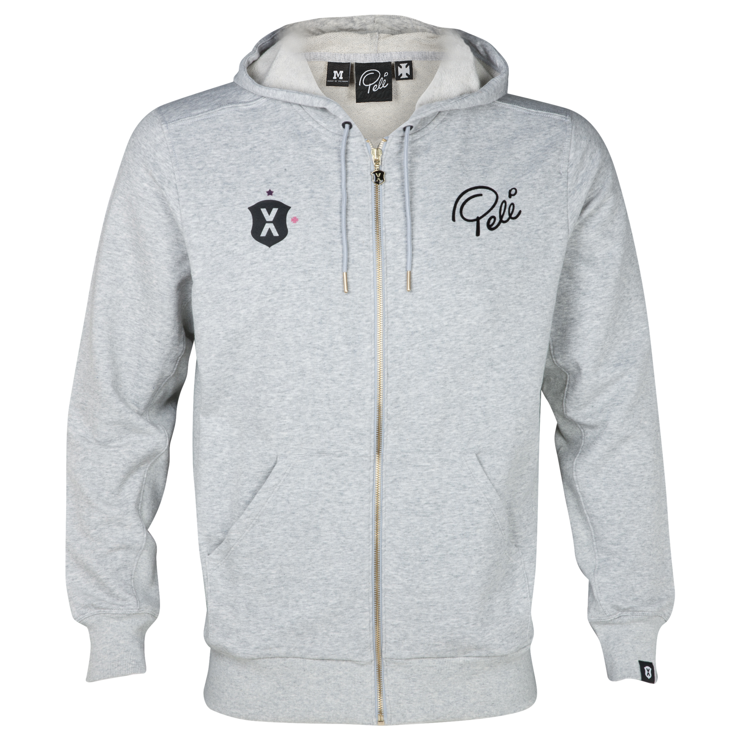 Pele Sports Zip Hoody - Grey Heather