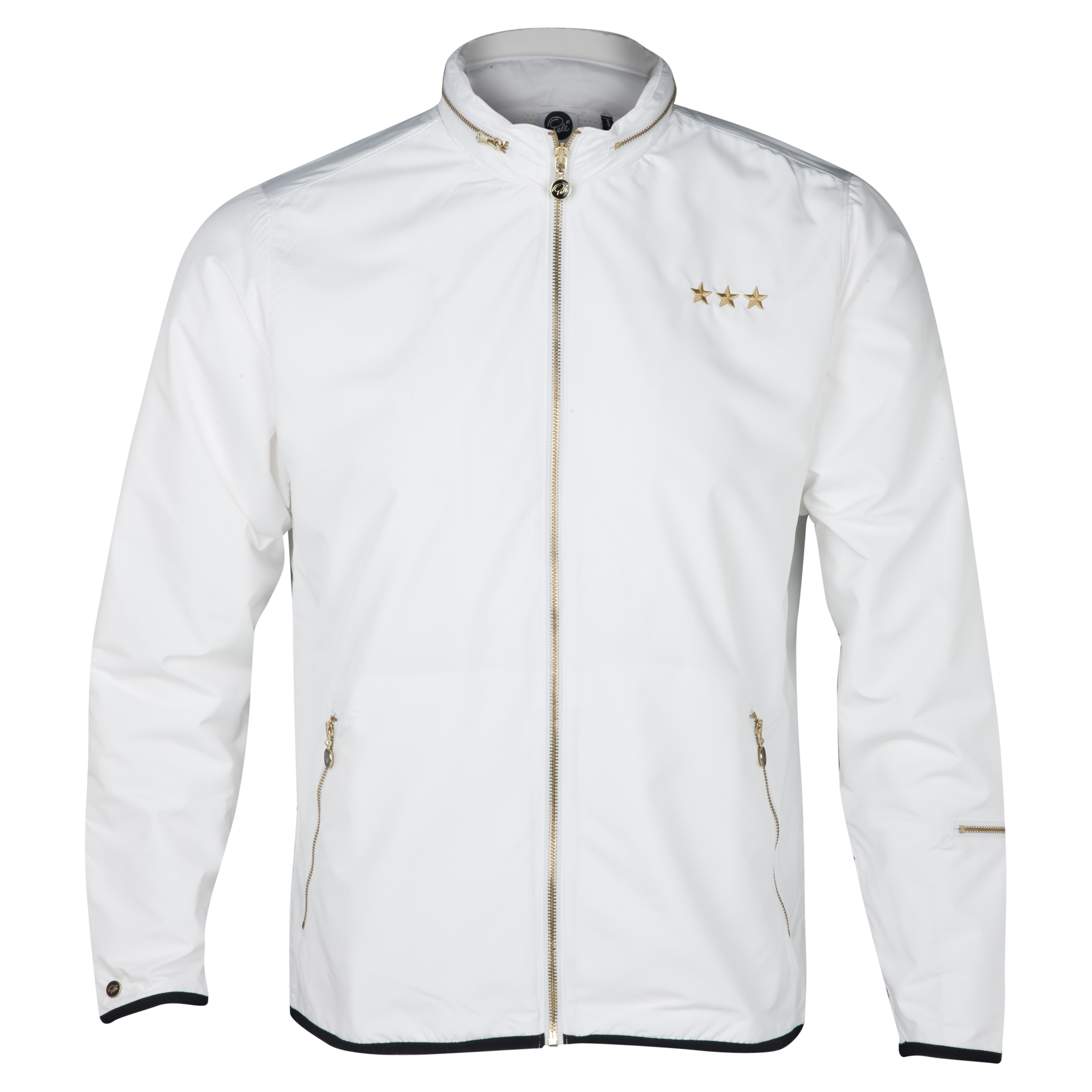 Pele Sports Gold Wind Jacket - Snow White