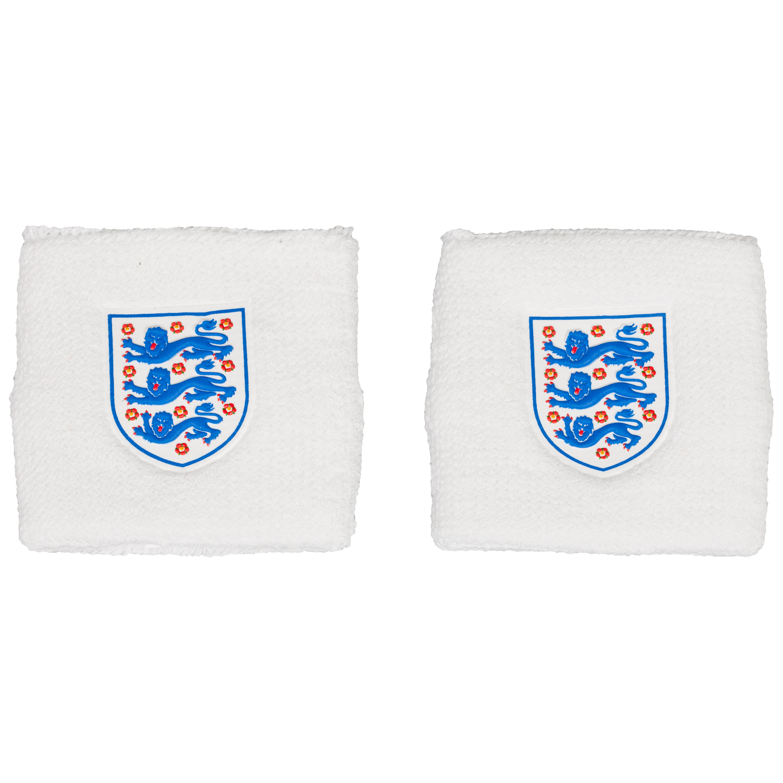 England FA 3 Lions Sweatband - White