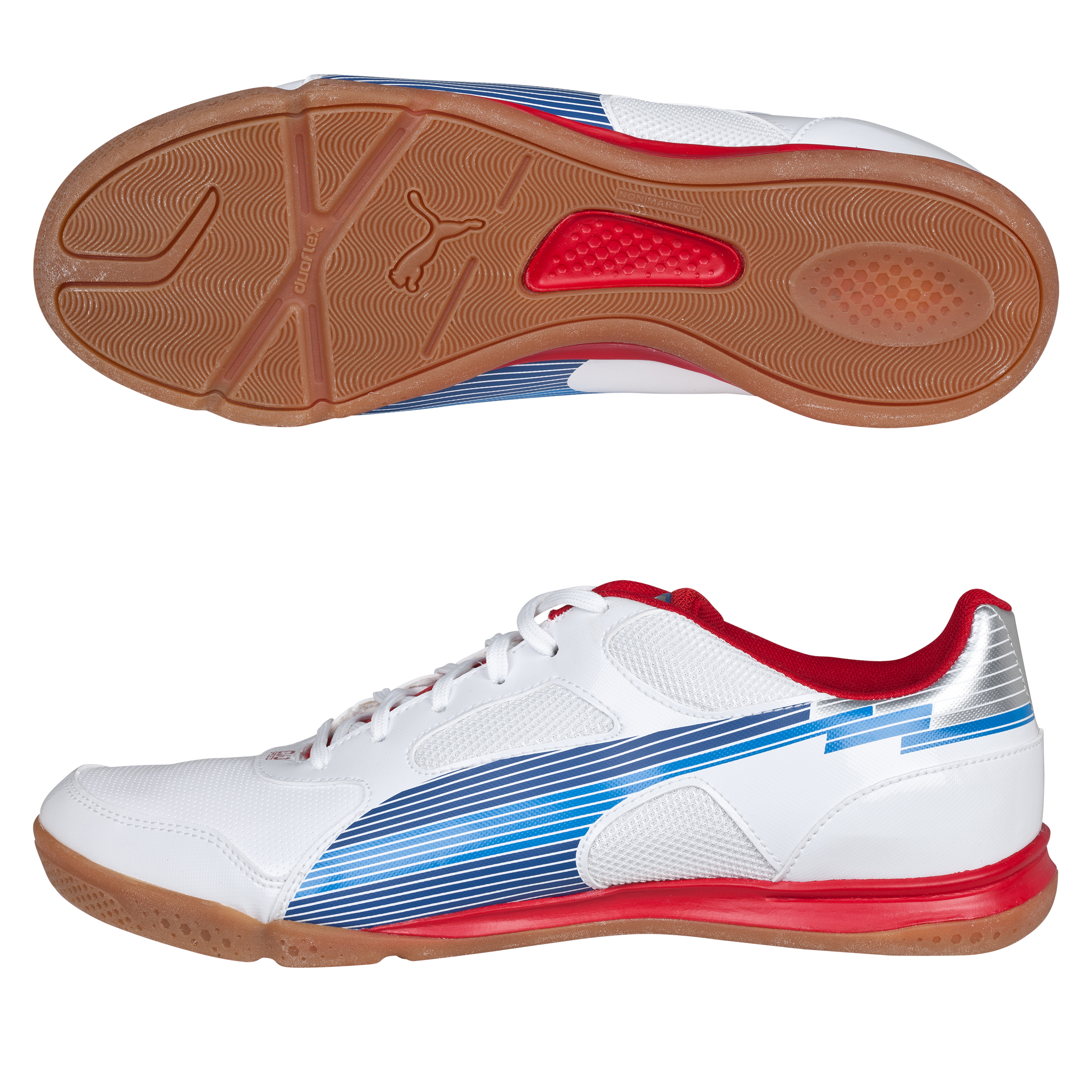 Puma Evospeed 4 Sala Football Trainer - White-Limoges-Ribbon Red