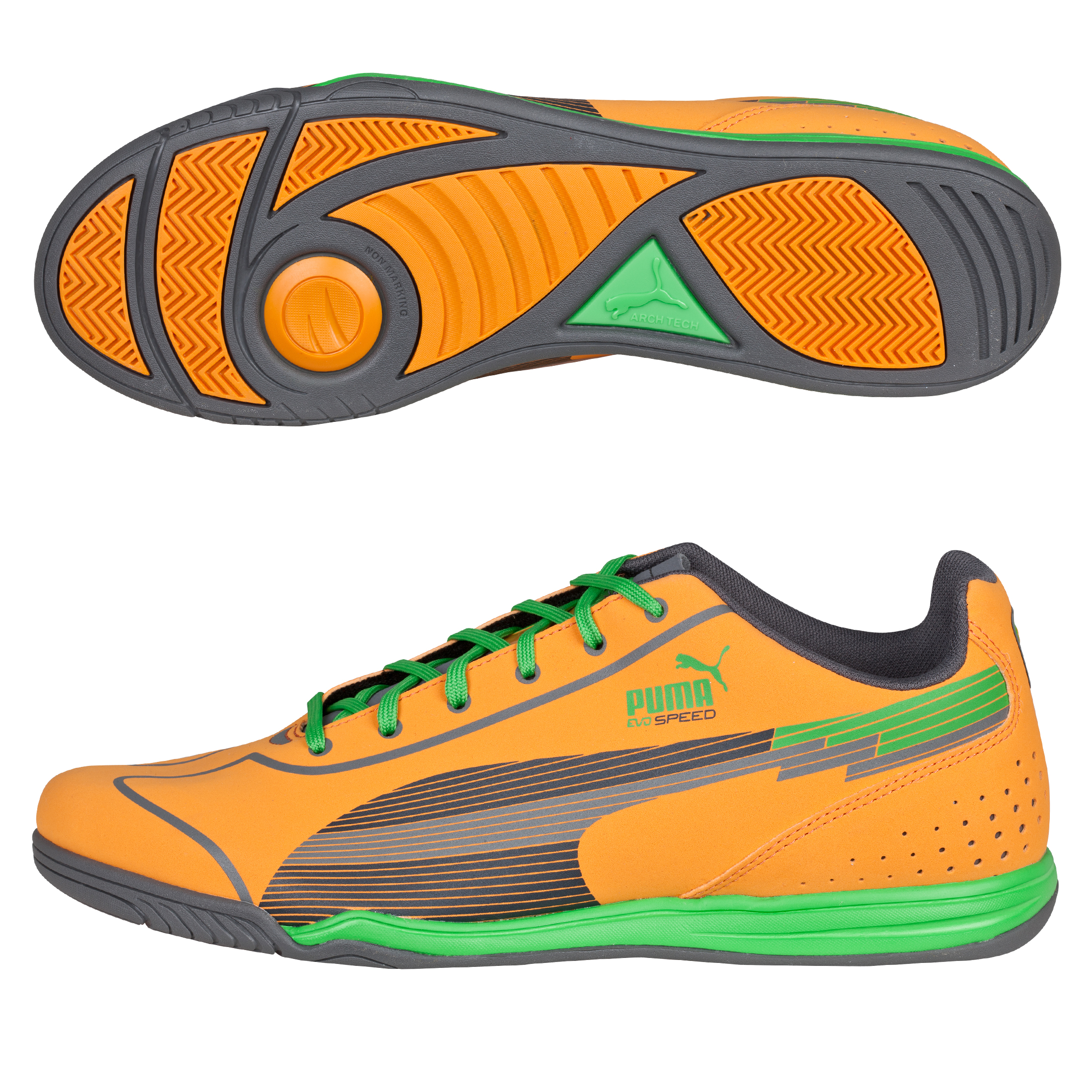 Evospeed Star Trainer Flame Orange/Team Charcoal/Classic Green