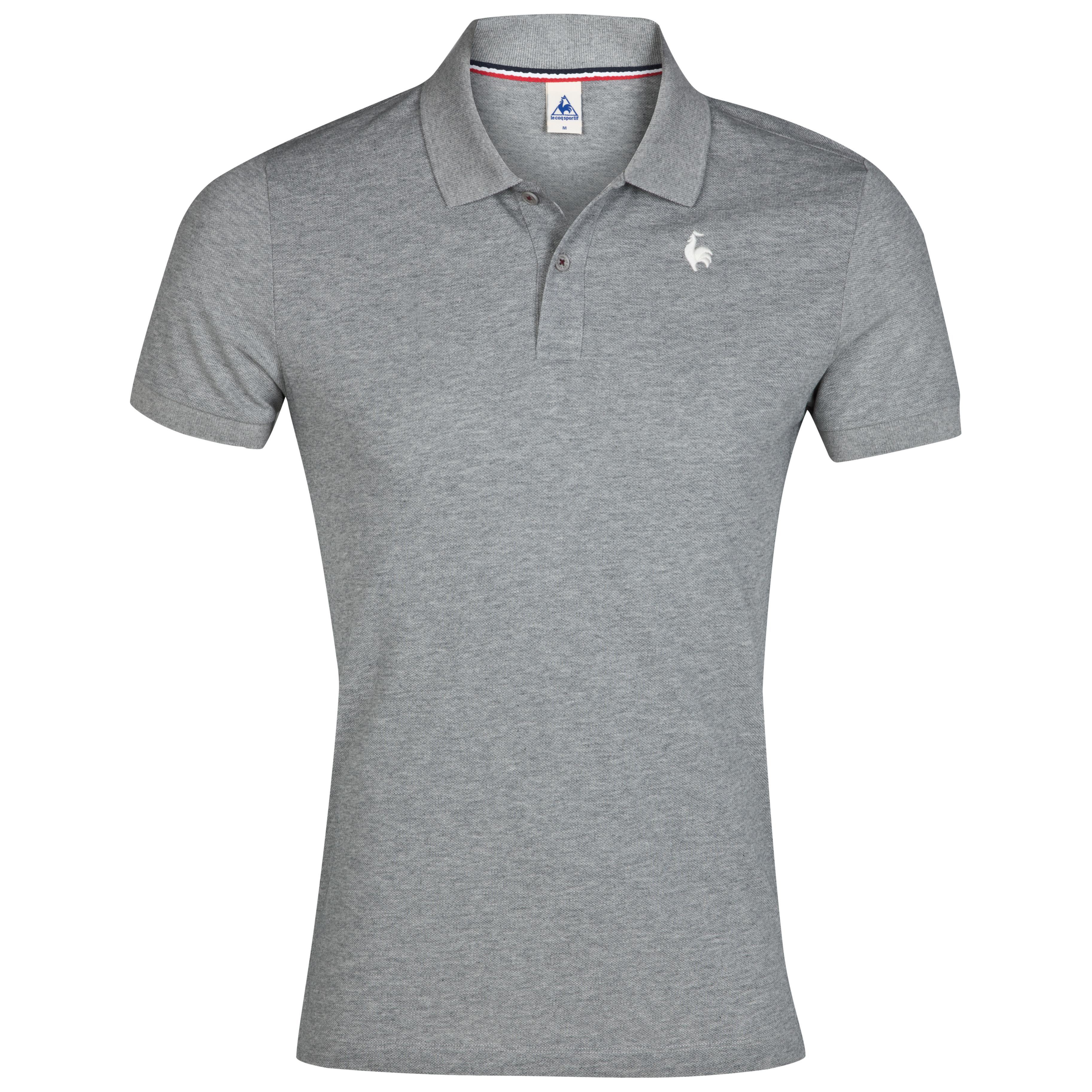 Le Coq Sportif Pique Polo - Light Heather Grey