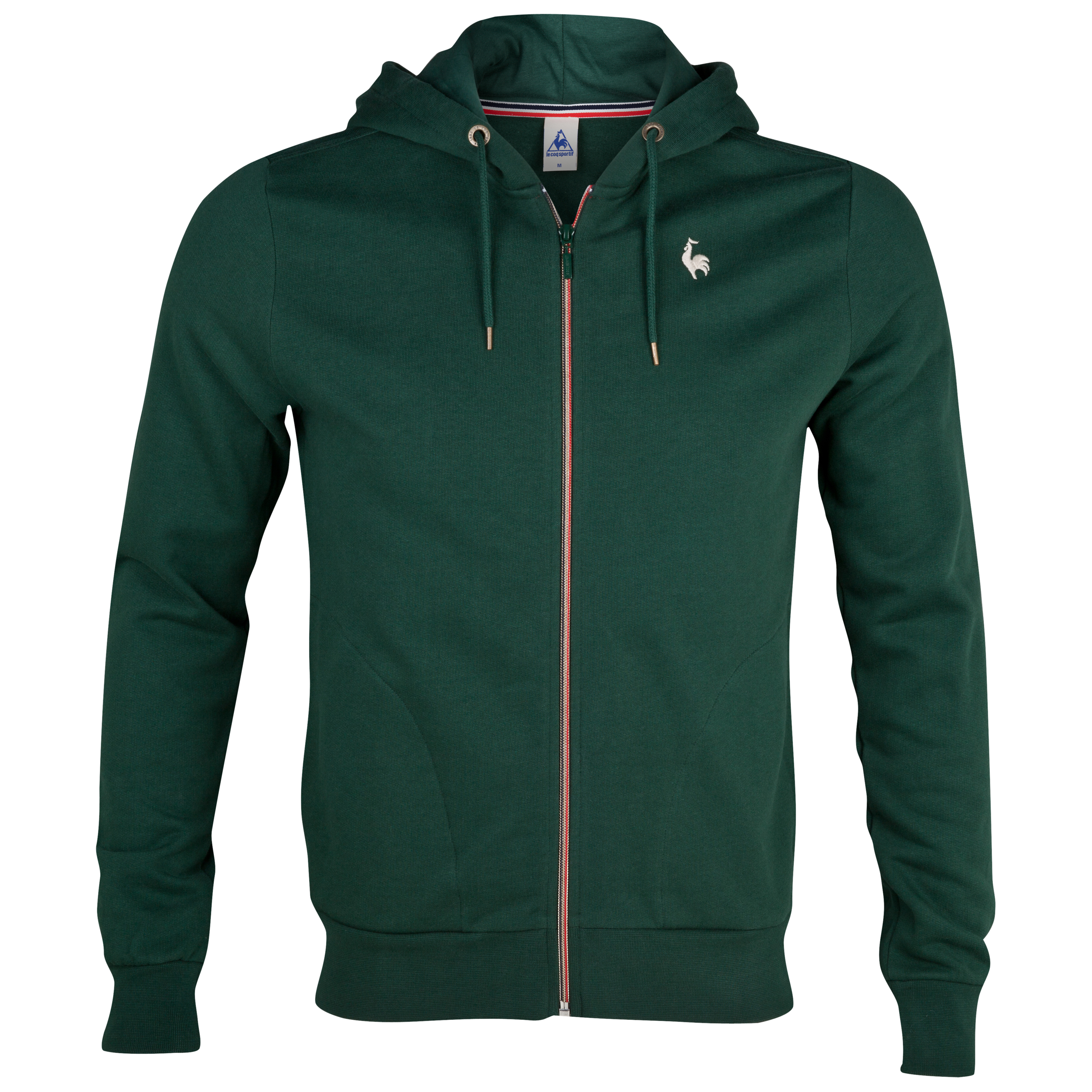 Le Coq Sportif  Full Zip Hooded Sweatshirt - Green Court