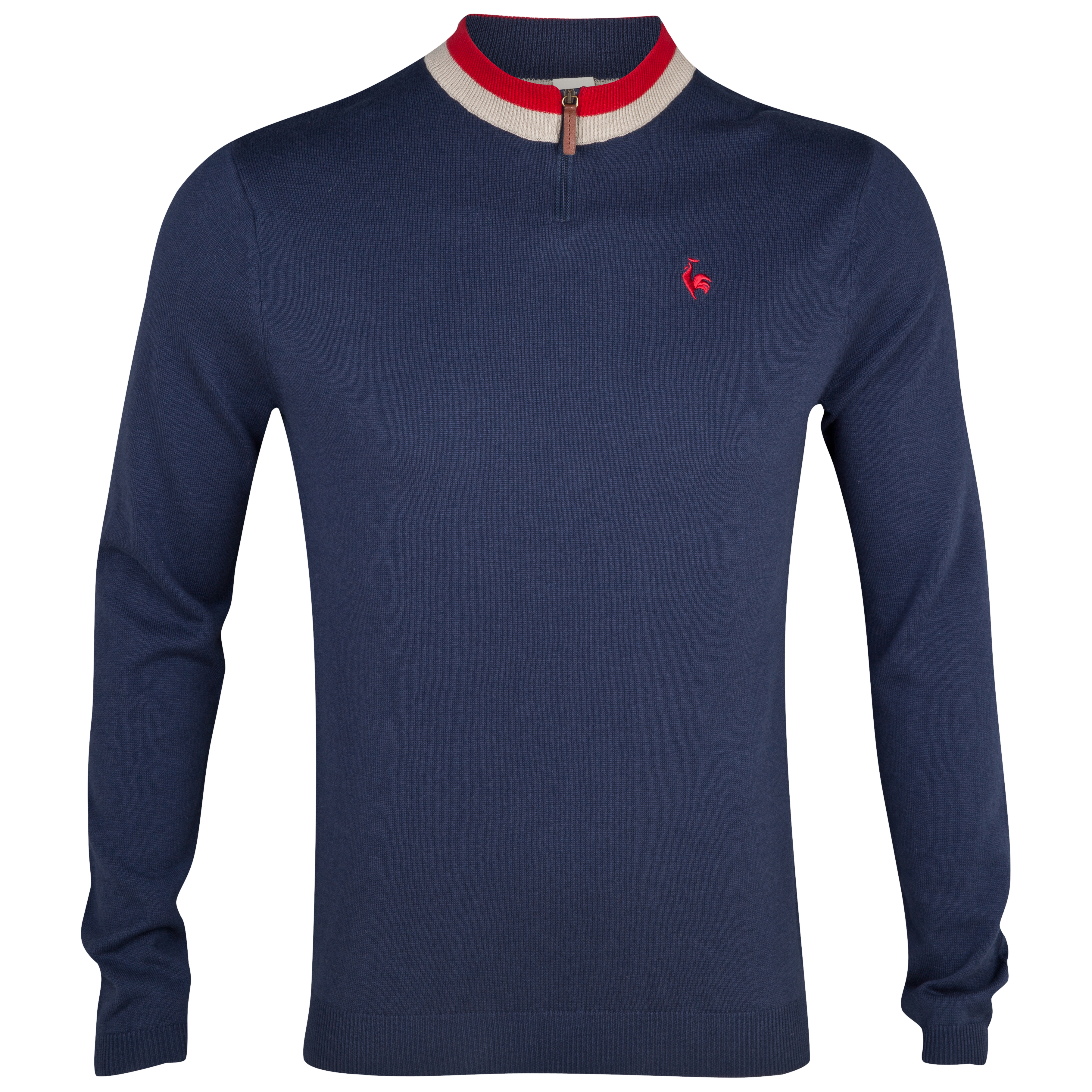 Le Coq Sportif Pull Over Zip Knit - Eclipse
