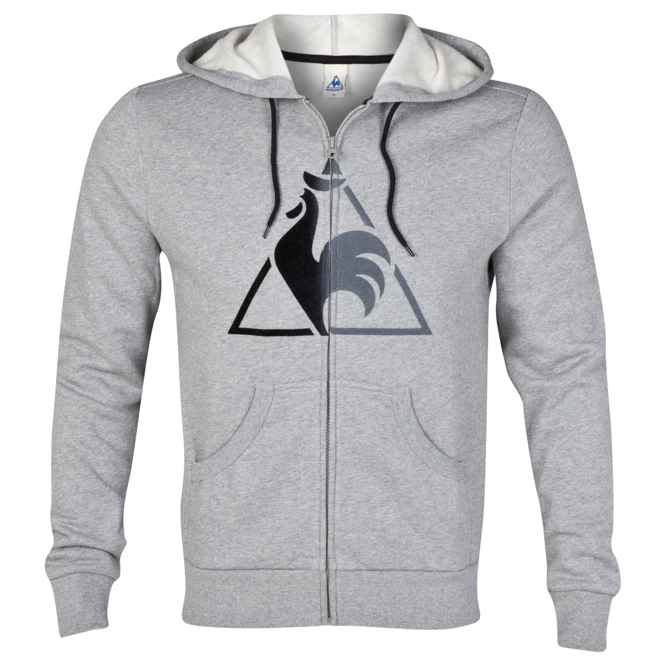 Le Coq Sportif Chronic Full Zip Hooded Sweatshirt - Light Heather Grey