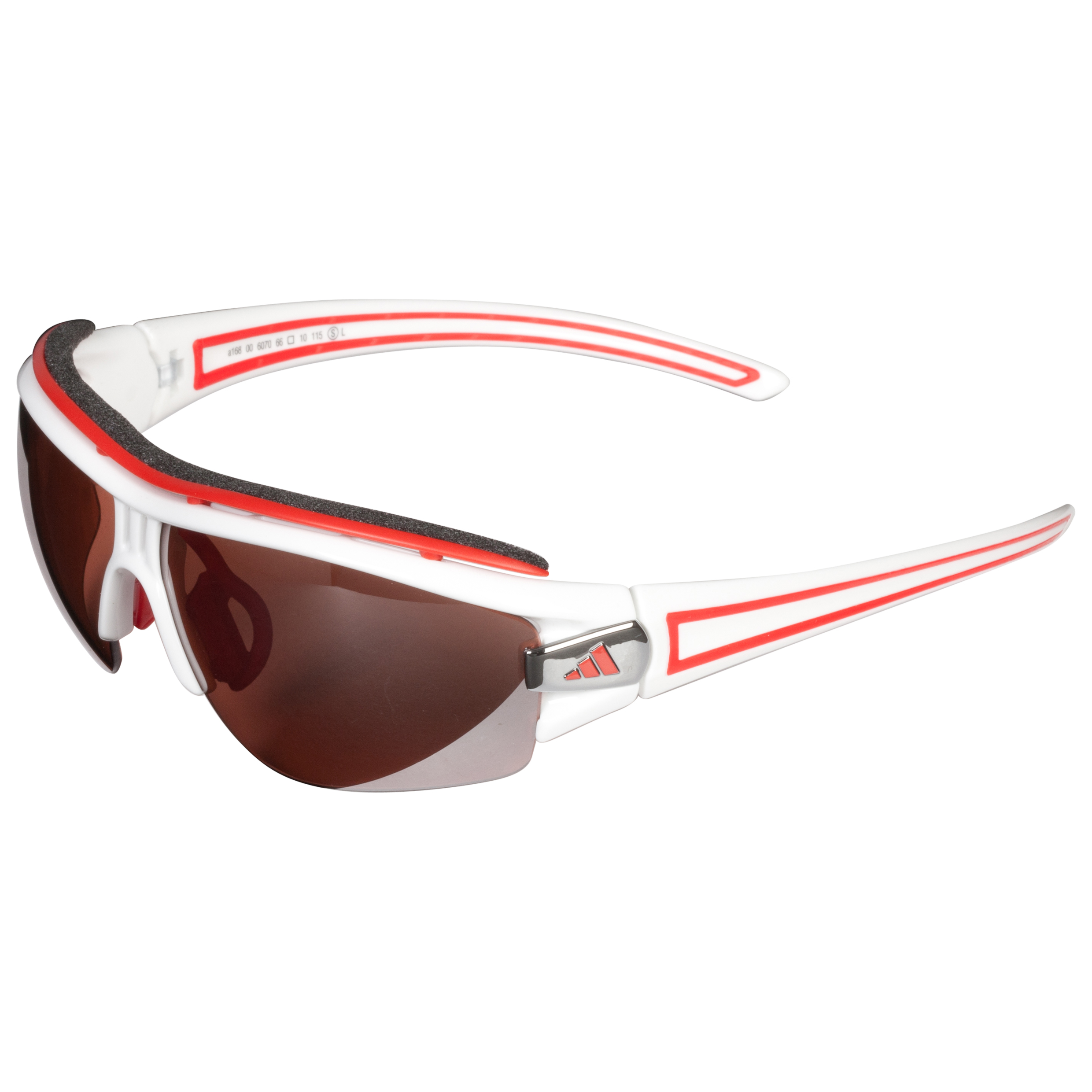 Adidas Evil Eye Halfrim Pro Sunglasses - White/Red - Small