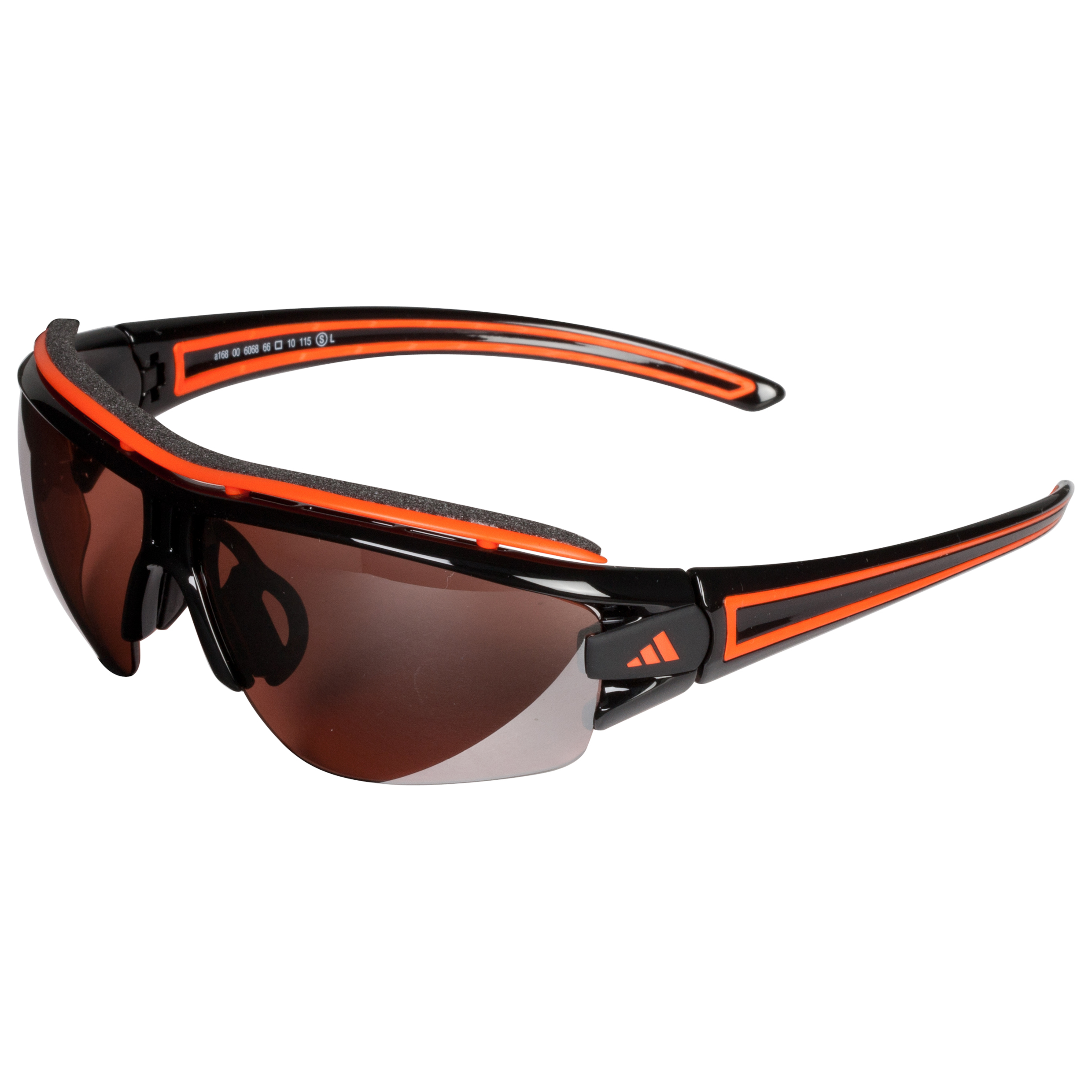 Adidas Evil Eye Halfrim Pro Sunglasses - Black/Orange - Small