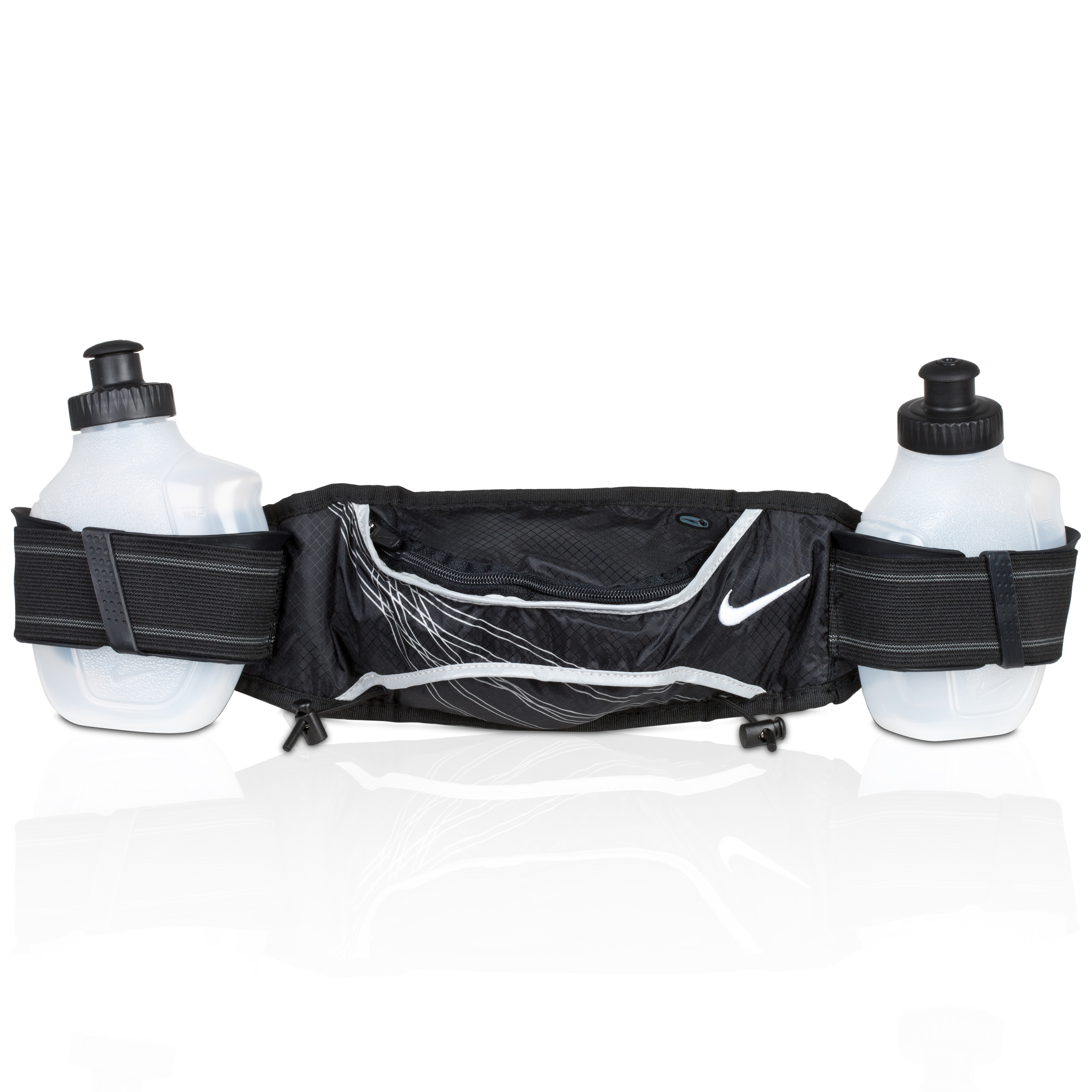 Nike Lightweight Hydration Belt 2 Bottle - Black/White