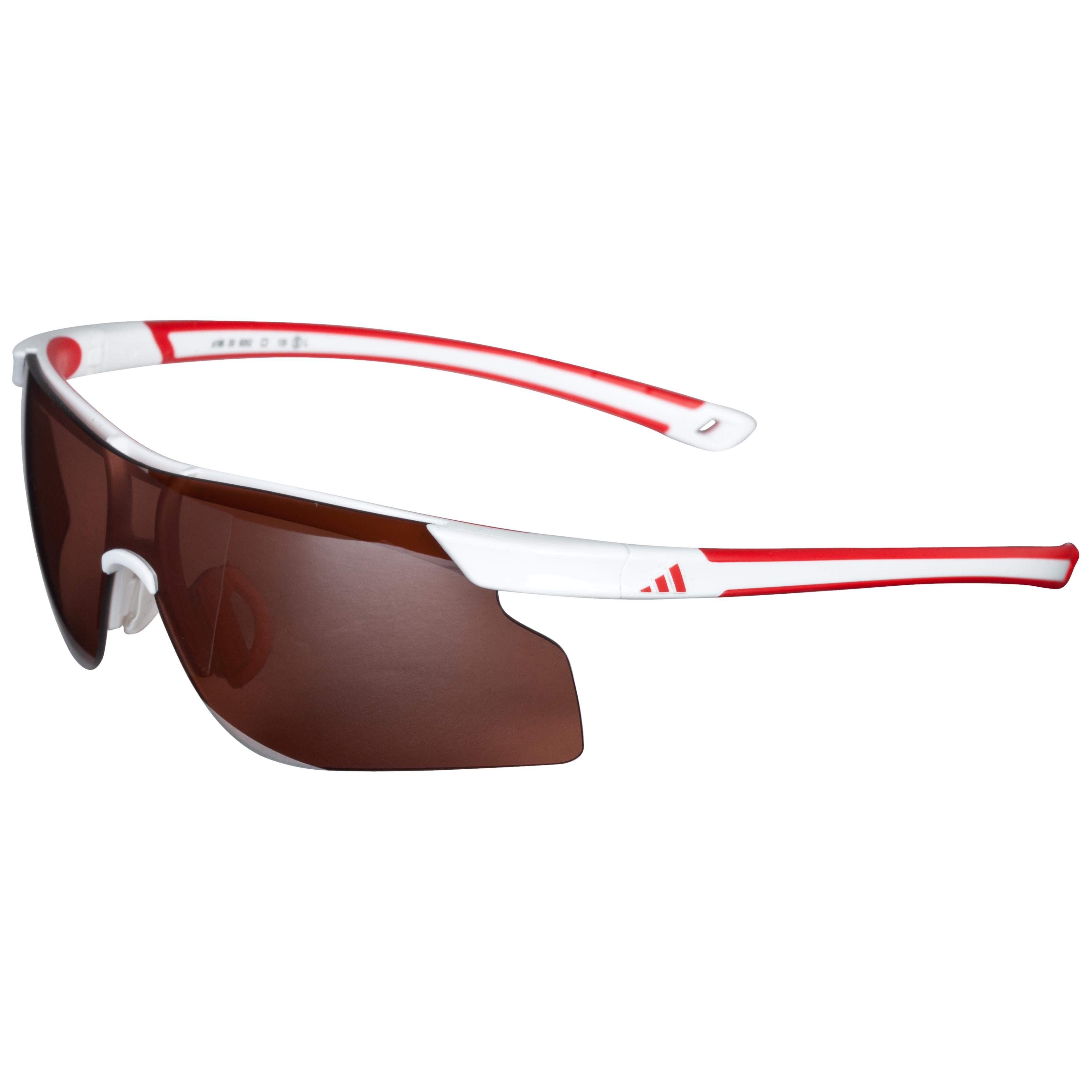 Adidas Adizero Tempo Sunglasses - (White/Red) - Small