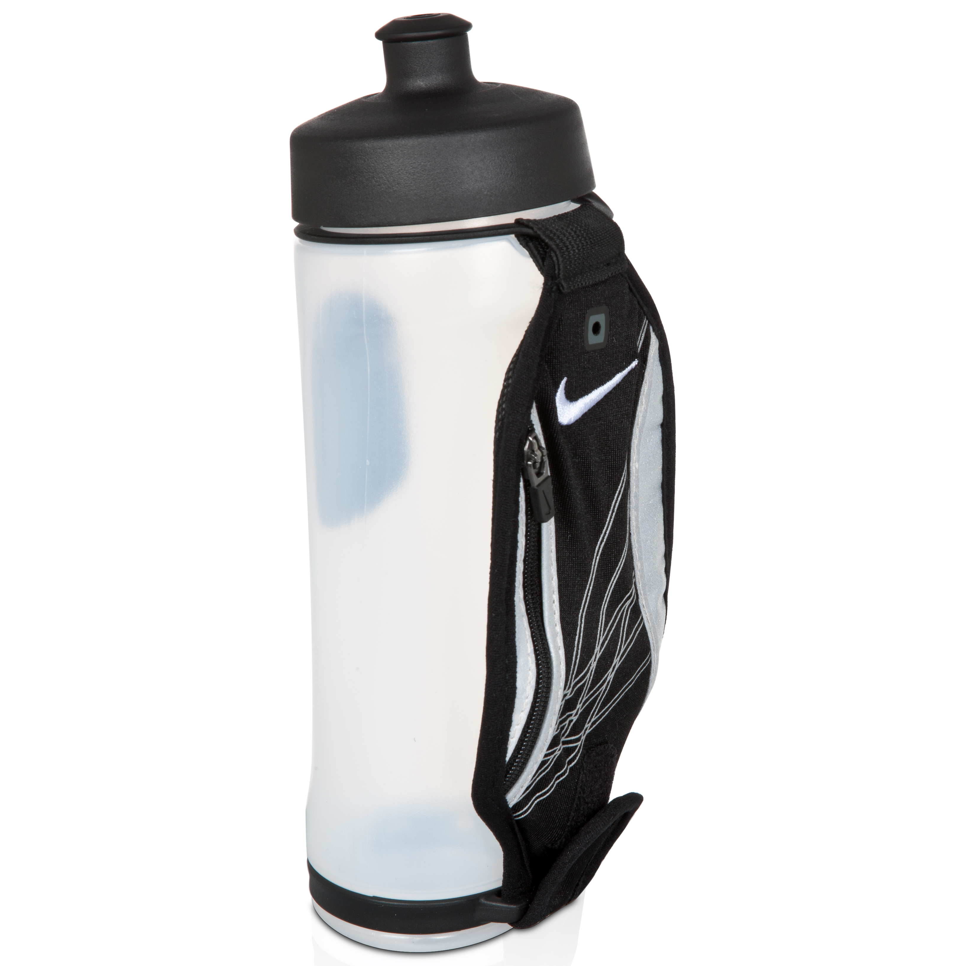 Nike Lightweight Running Hand-Held Water Bottle - Black/White