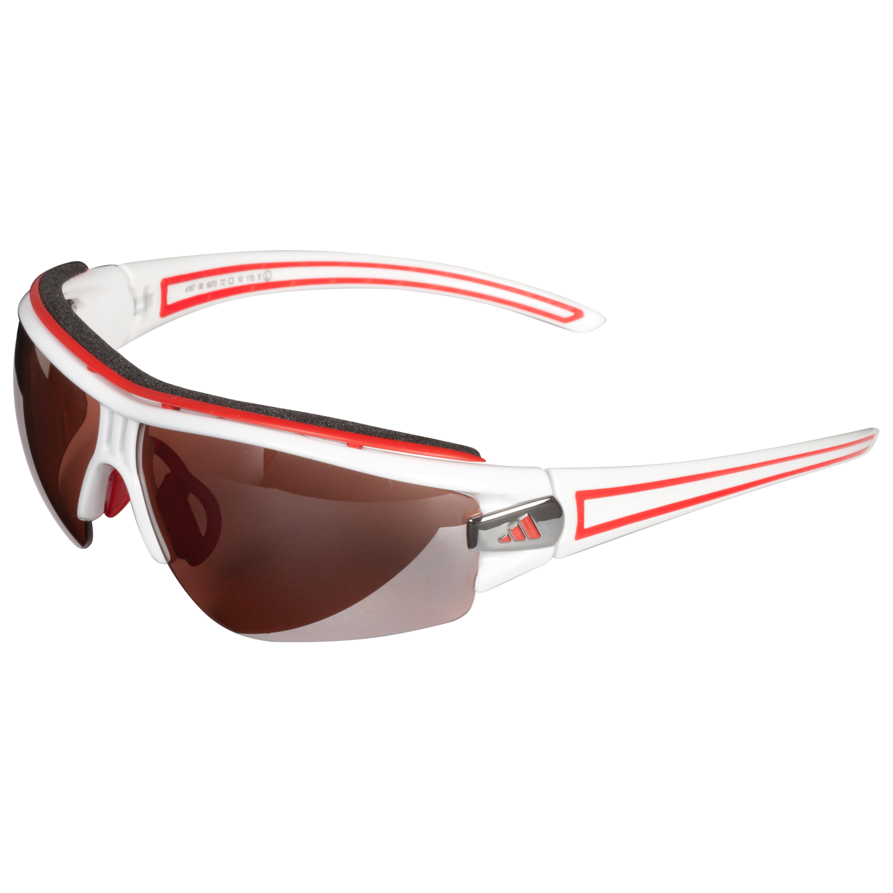 Adidas Evil Eye Halfrim Pro Sunglasses - White/Red - Large