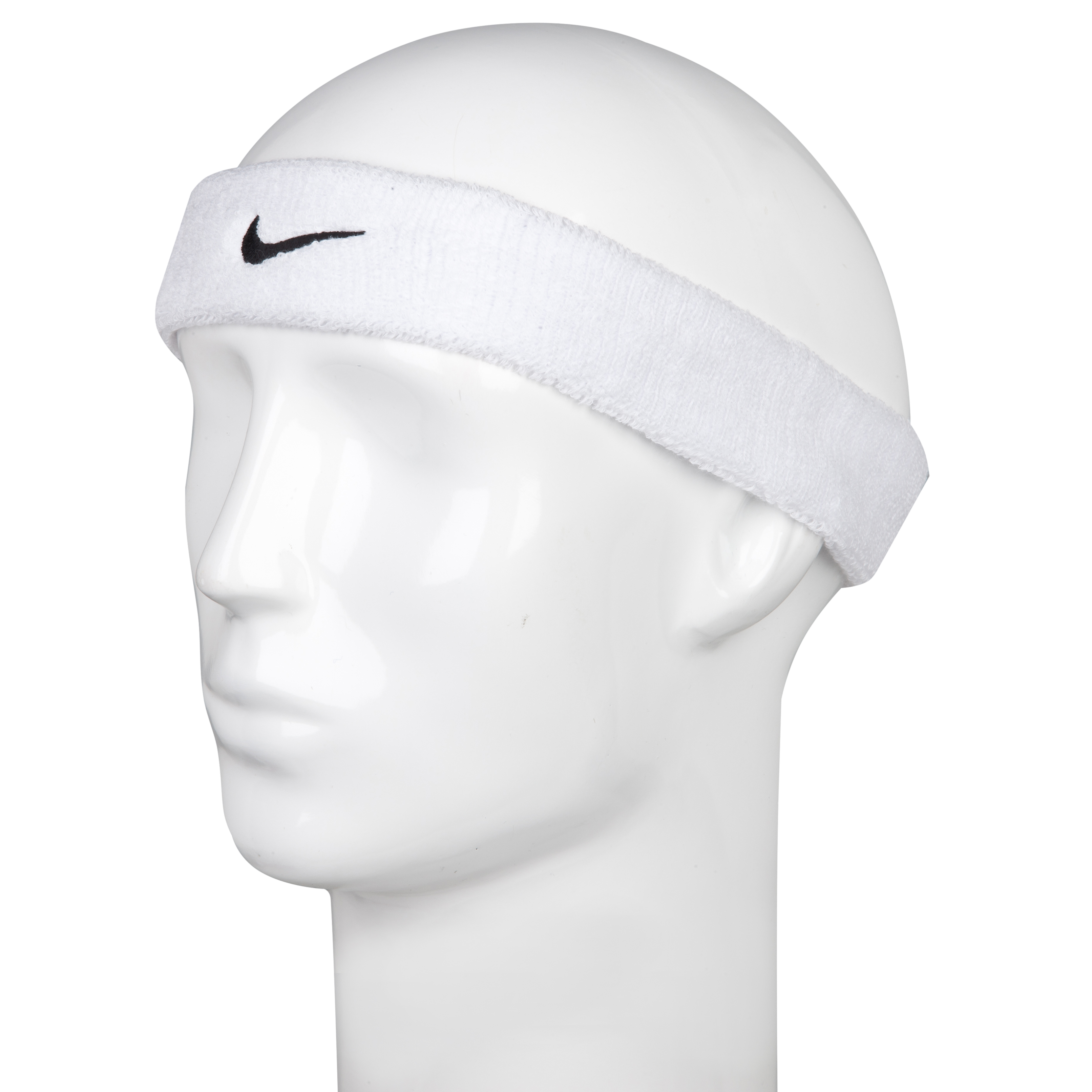 Nike Swoosh Headbands - White/Black