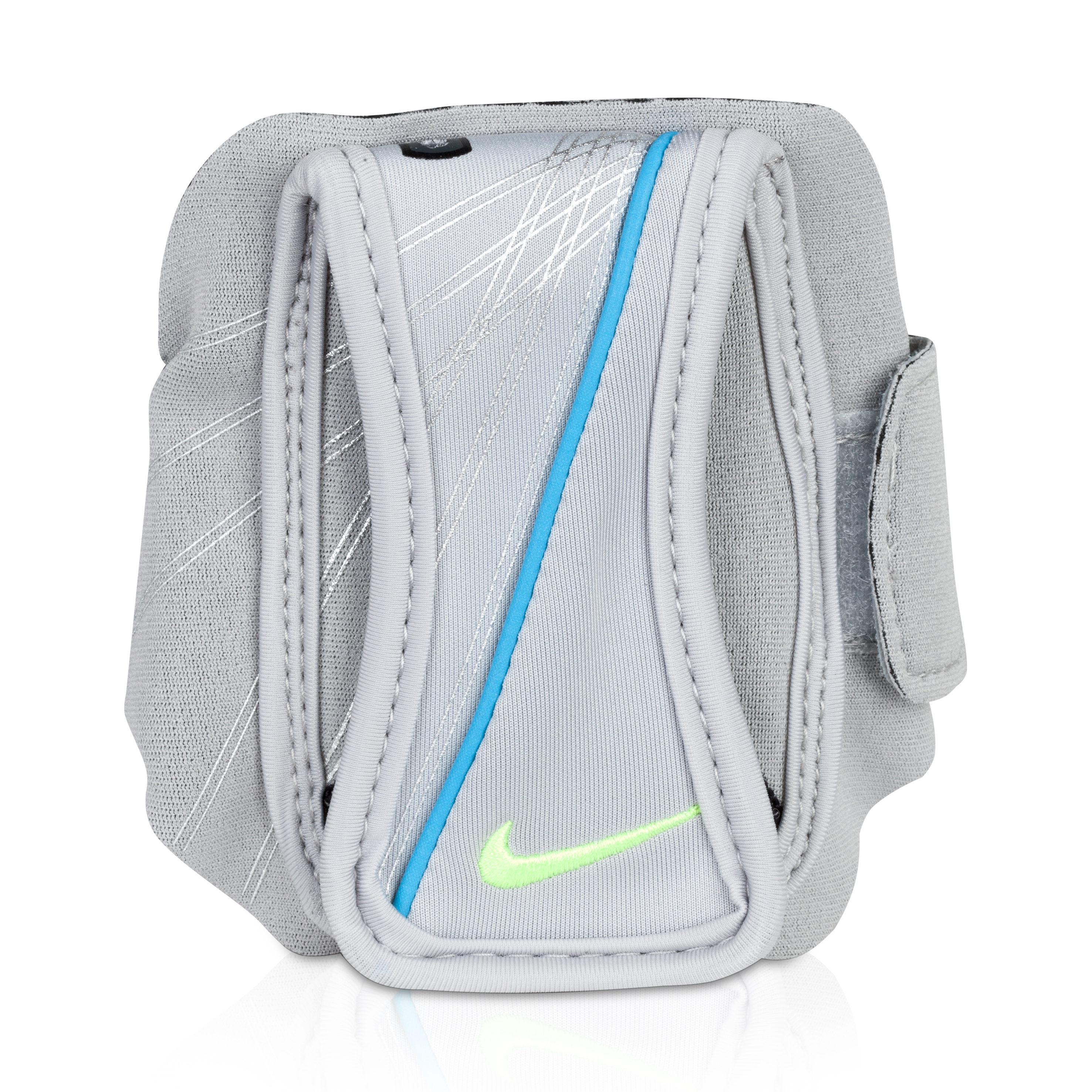 Nike Running Arm Wallet/Phone Case - Wolf Grey/Blue Glow/Volt